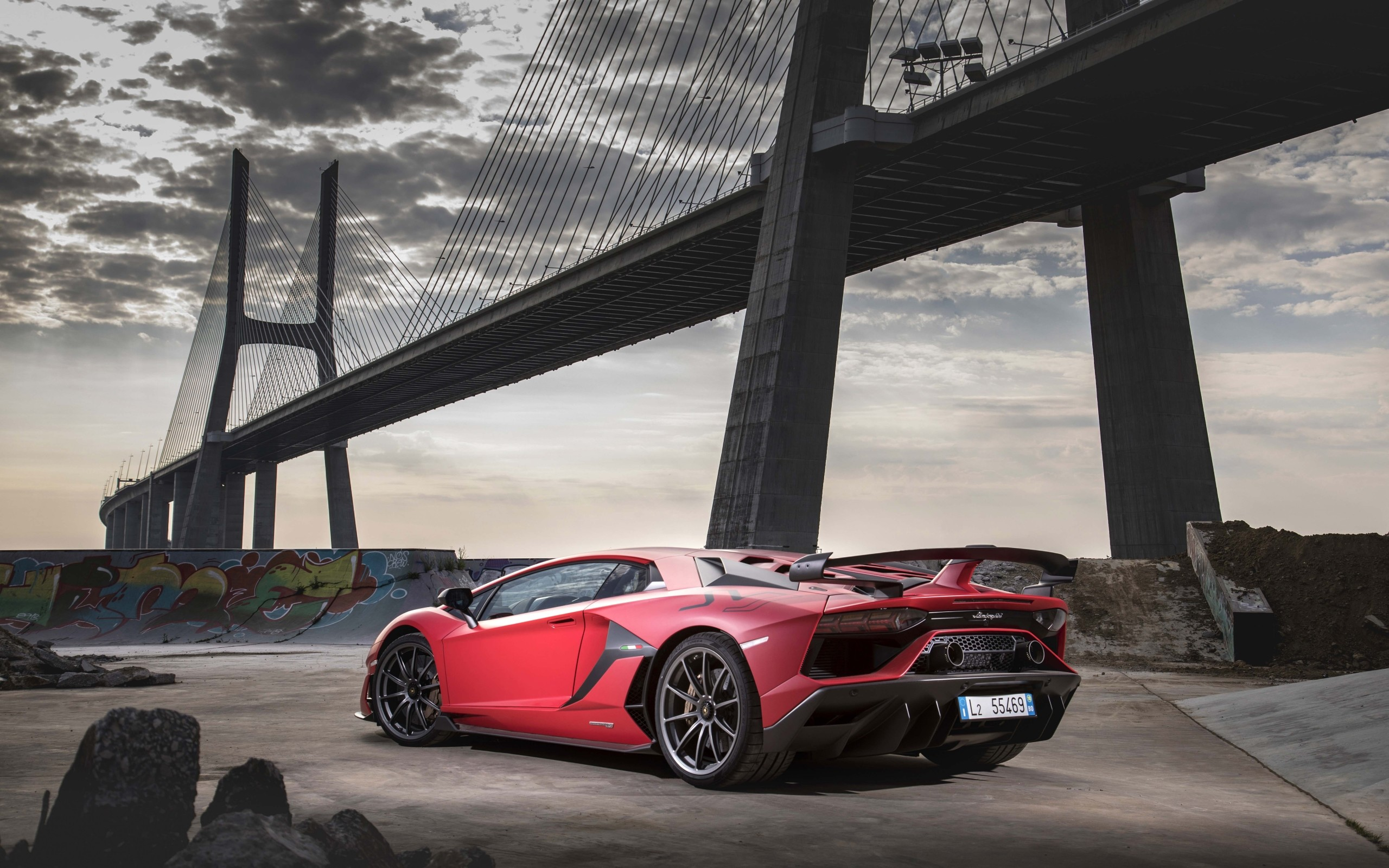2560x1600 HD Wallpaper Lamborghini Aventador SVJ, Red, Car, SportCar