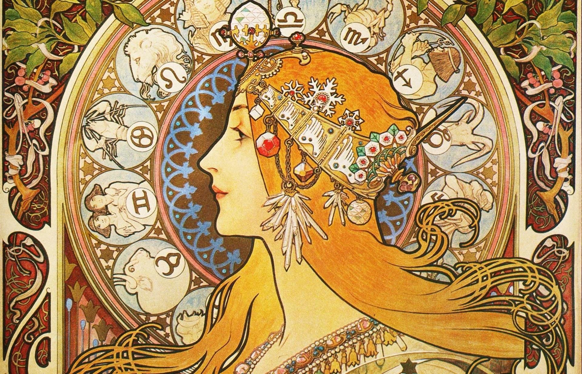 922747 best art nouveau desktop wallpaper