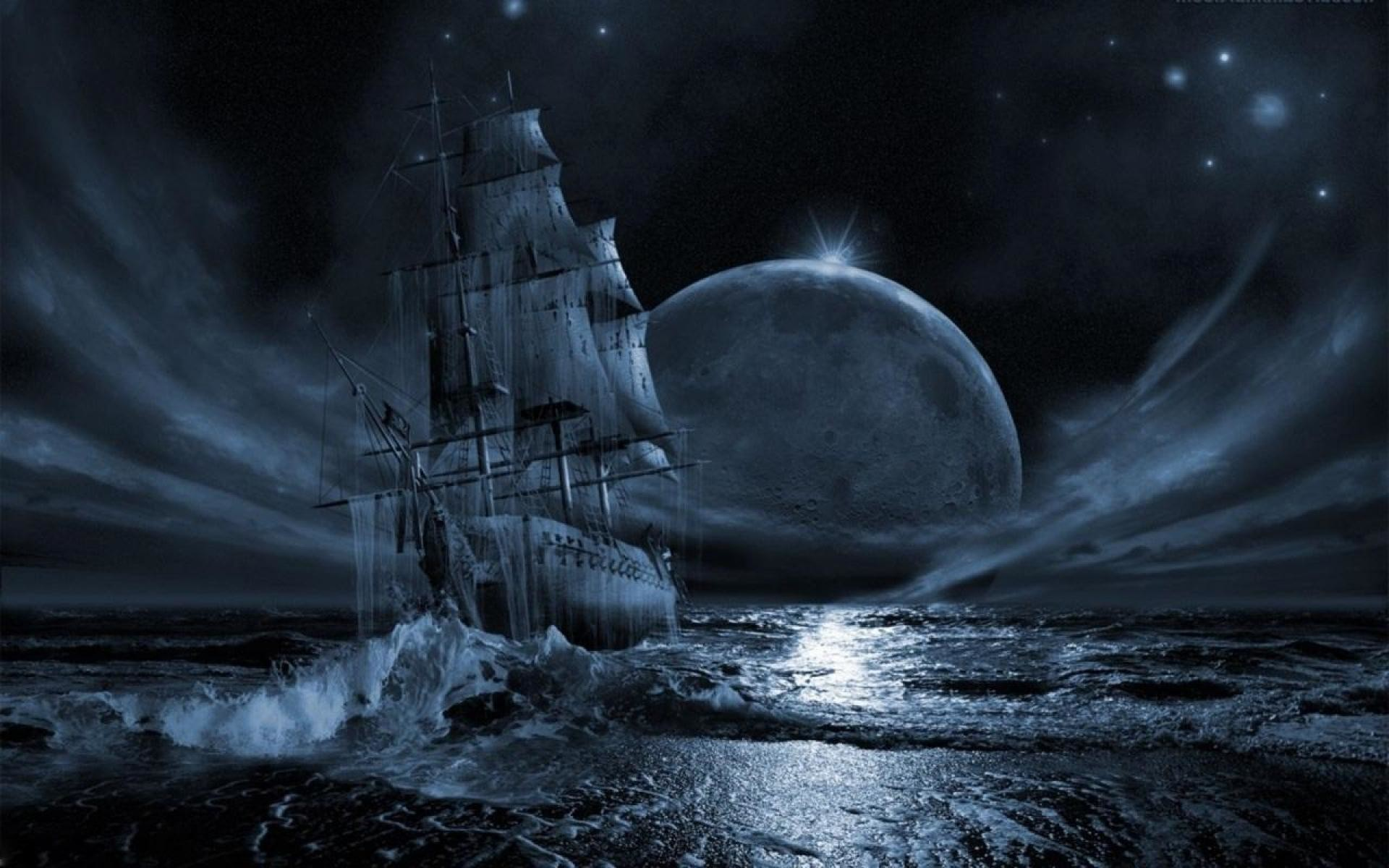 1920x1200 Ghost Pirate Ship Wallpapers High Quality