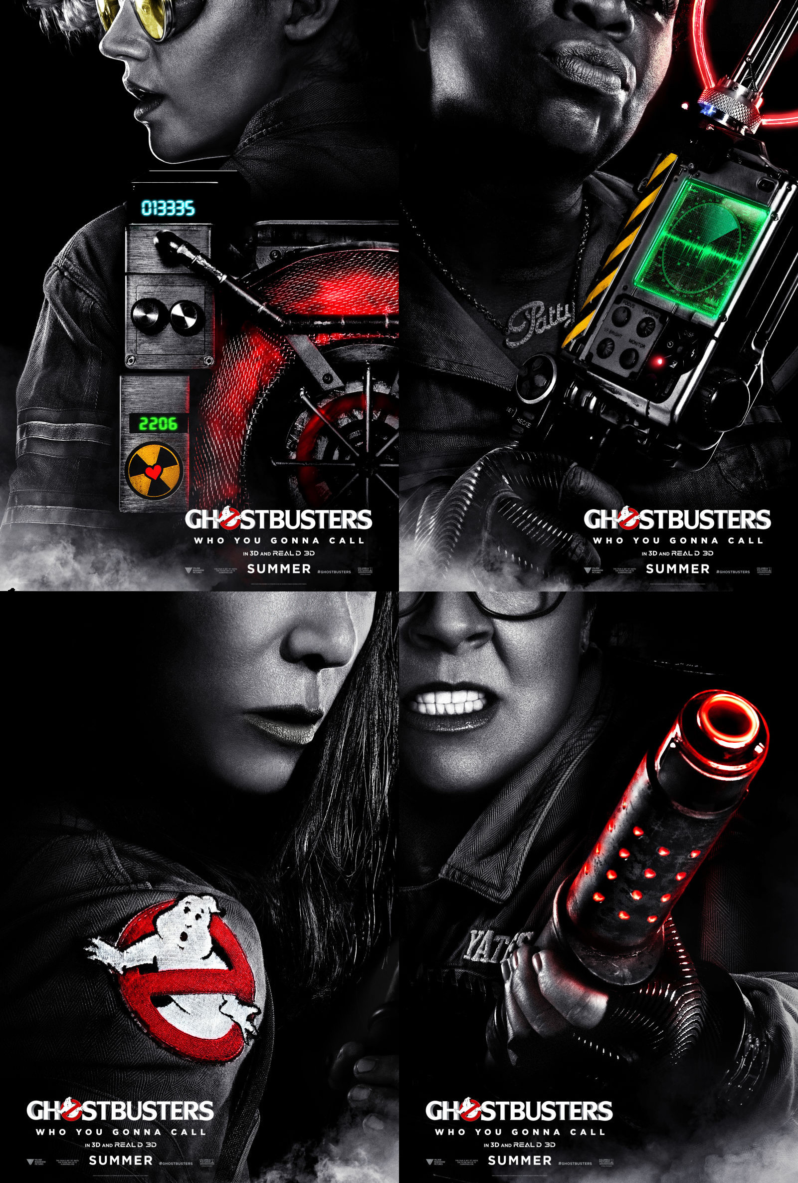"1600x2370 Ghostbusters black posters revealed alongside ""first"" cast picture"