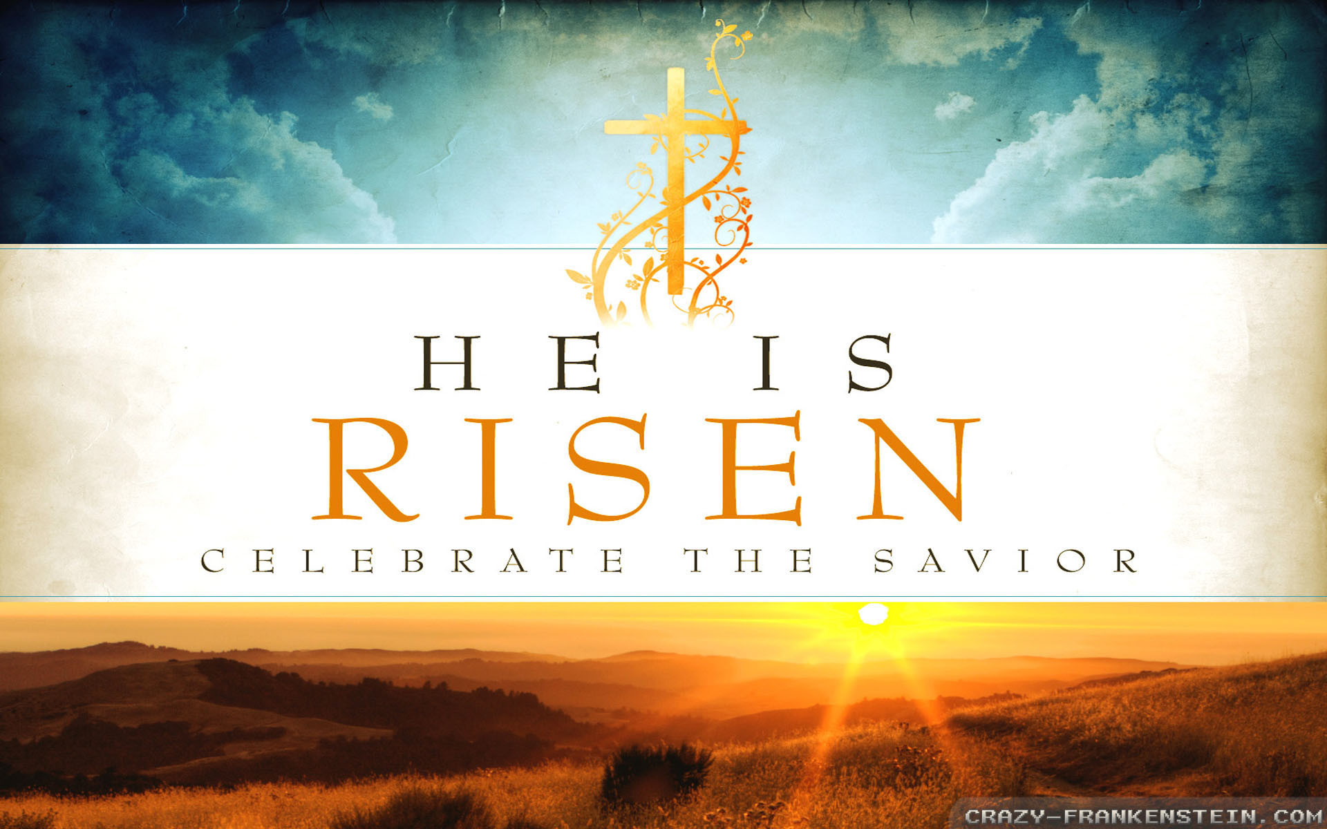 1920x1200  Wallpaper: He is risen Easter Sunday wallpapers. Resolution:  1024x768 | 1280x1024 | 1600x1200. Widescreen Res: 1440x900 | 1680x1050 |