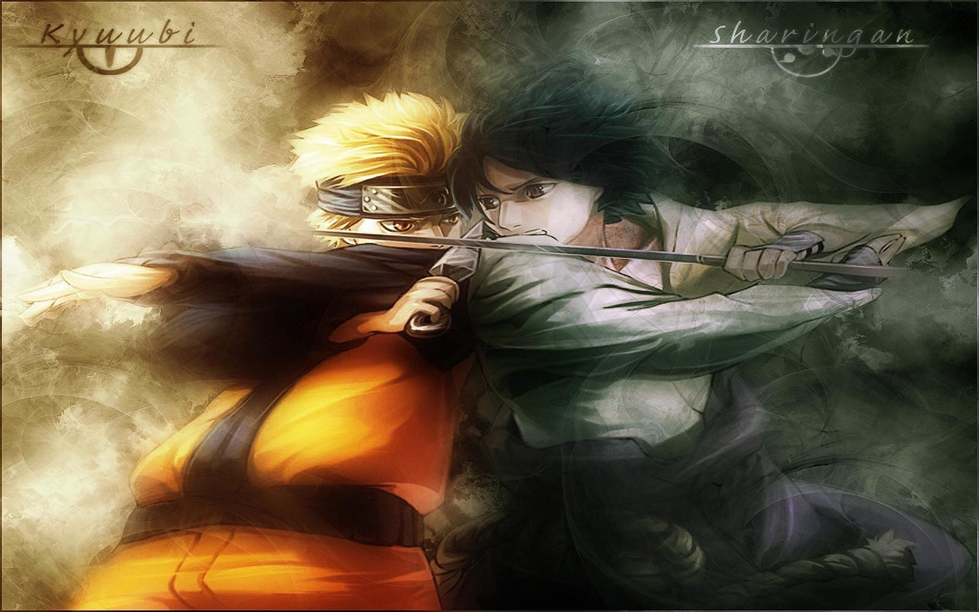 1920x1200 Naruto Vs Sasuke Fight Hd Wallpaper | Wallpaper List