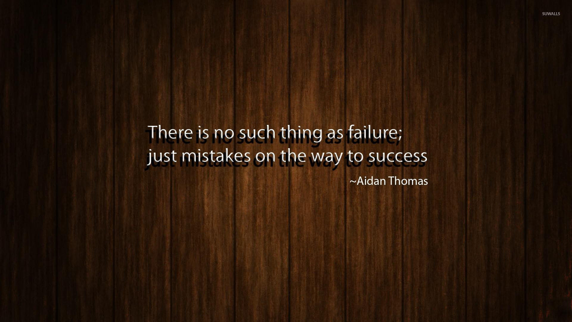 1920x1080 No failure, just mistakes on the way to success wallpaper