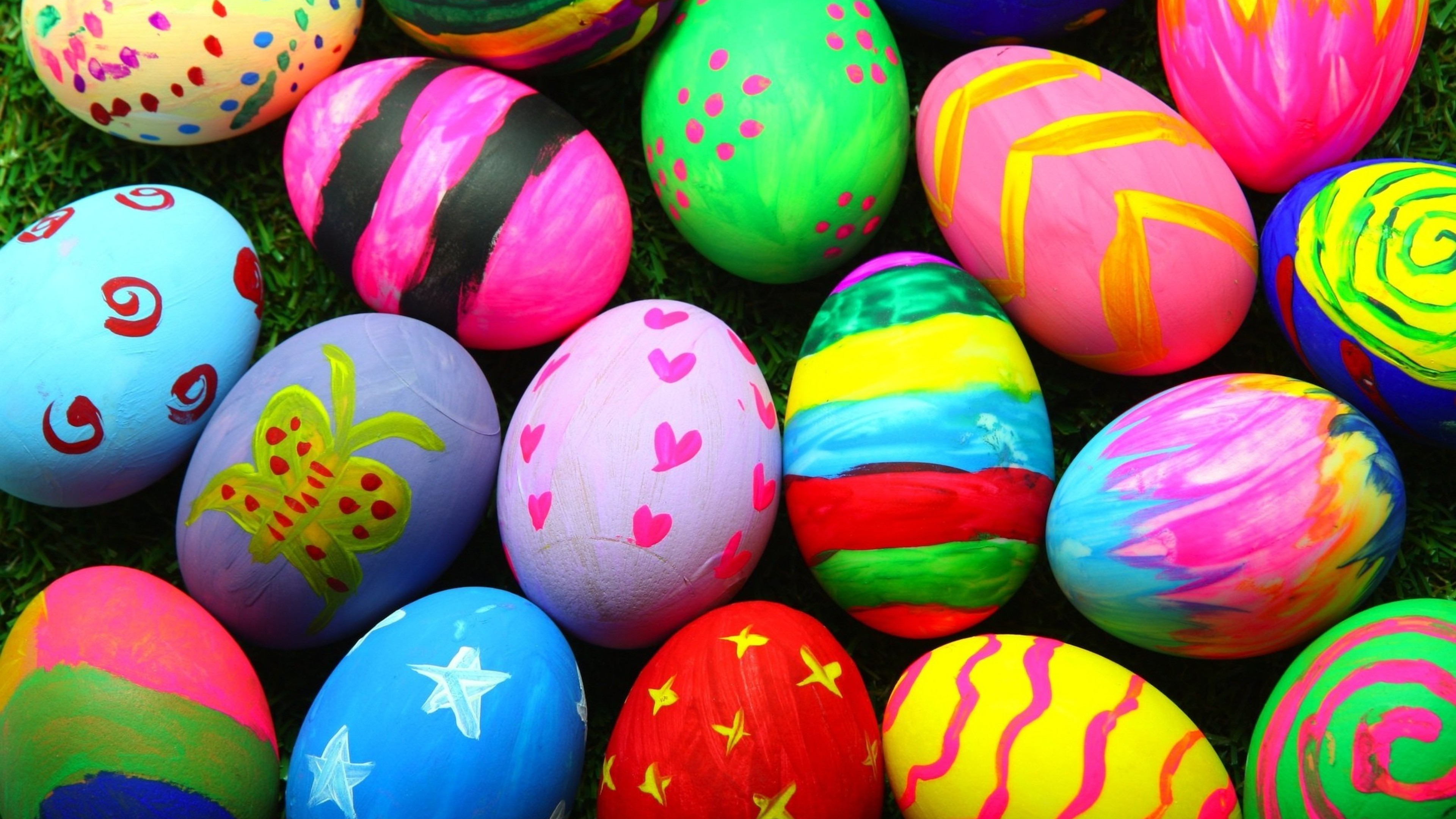 3840x2160  Colorful Easter Eggs