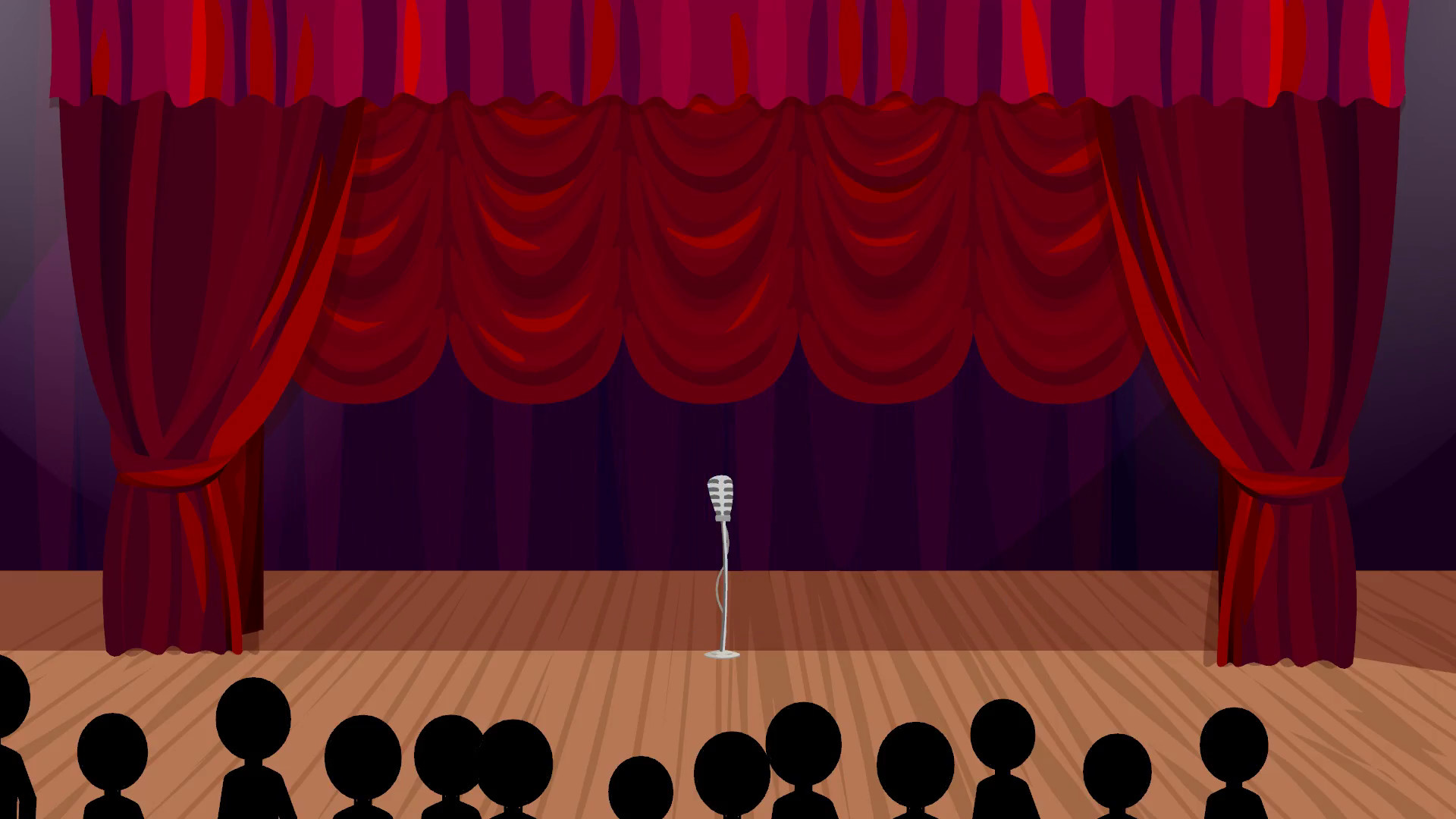 1920x1080 Rising Curtains: Cartoon Stage Background Motion Background - VideoBlocks