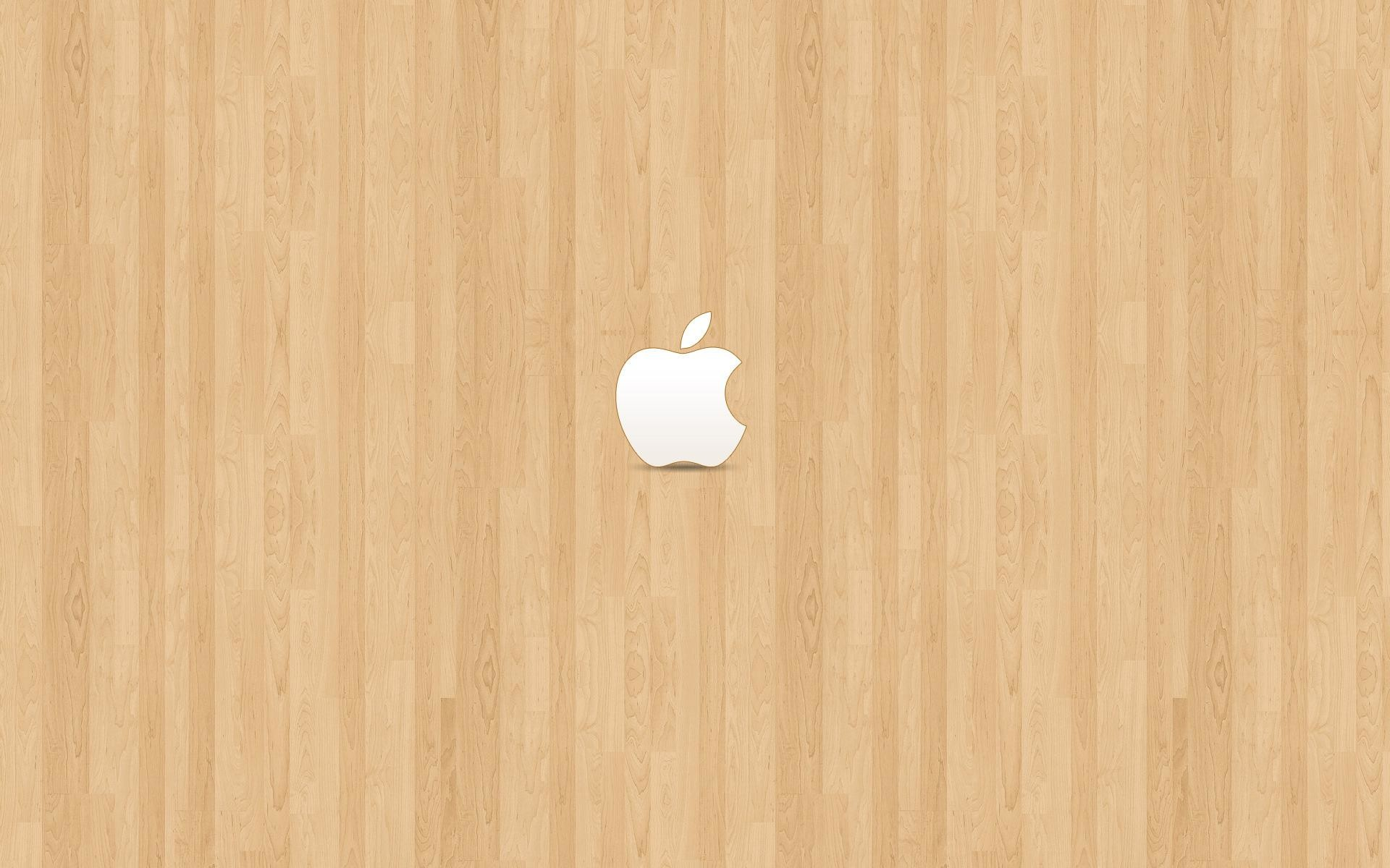 1920x1200 Apple on light brown wood