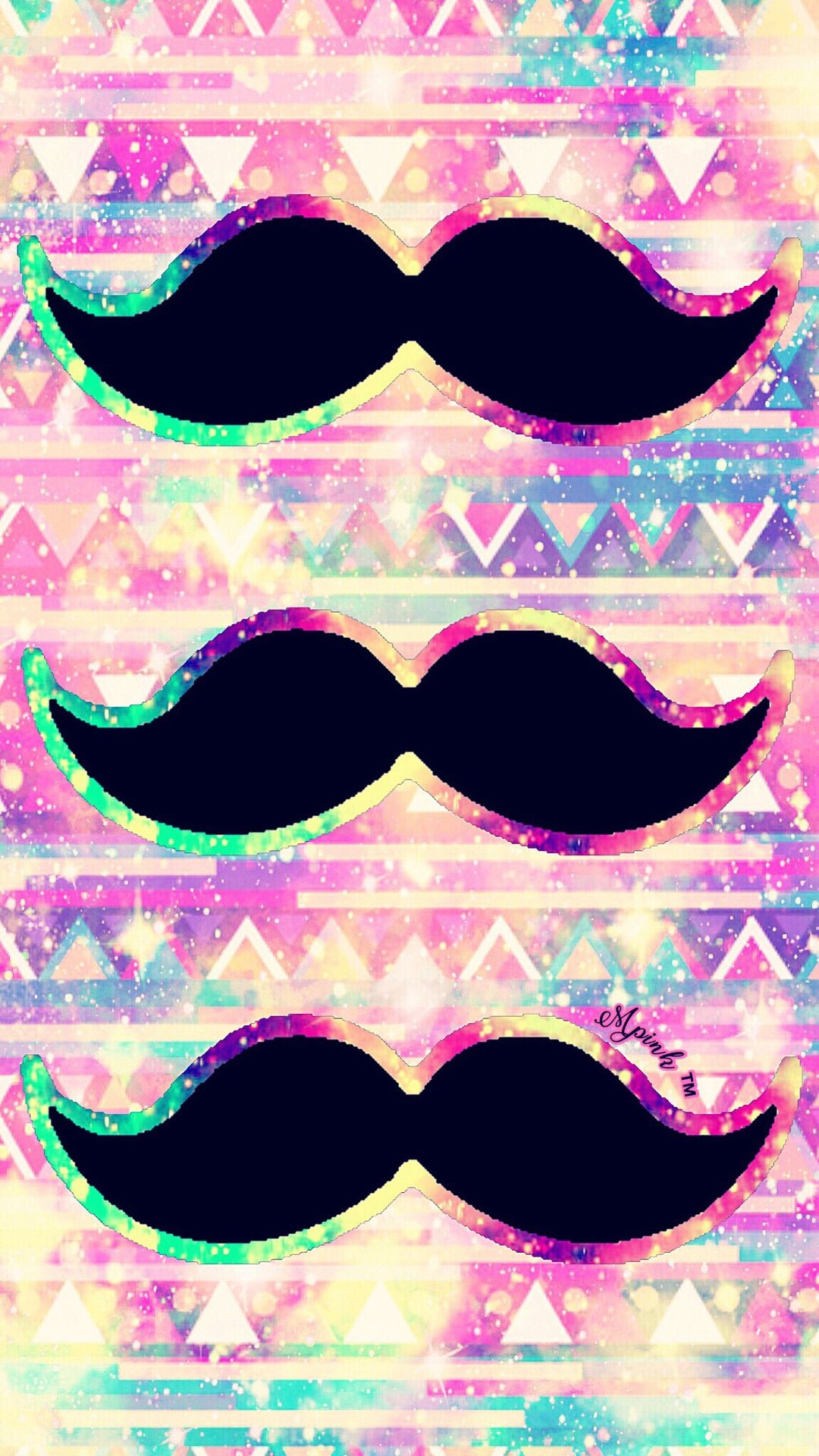 1080x1920 Triple Mustache Galaxy Wallpaper #androidwallpaper #iphonewallpaper # wallpaper #galaxy #sparkle #glitter #lockscreen #pretty #pink #cute #girly # mustache ...
