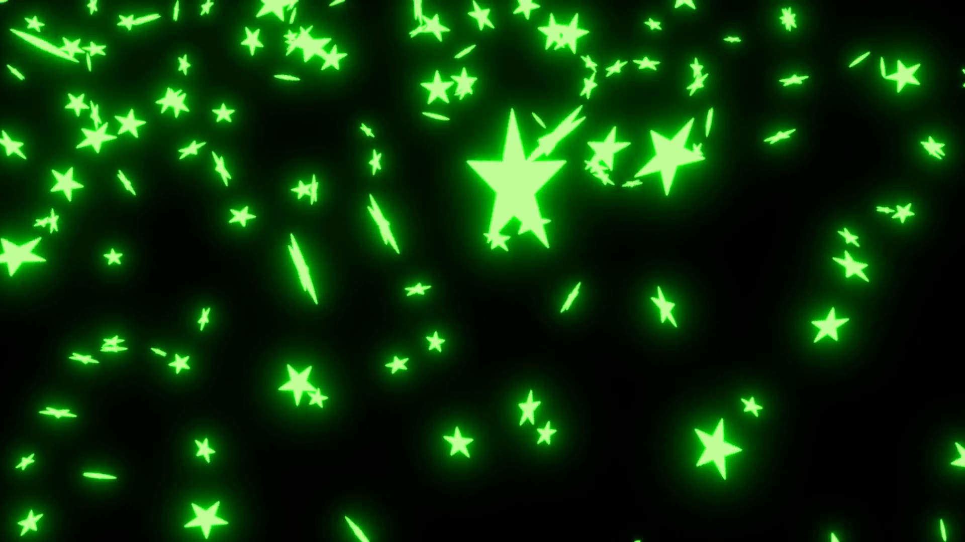 1920x1080 Animated falling neon green stars on black background 2. Motion Background  - VideoBlocks