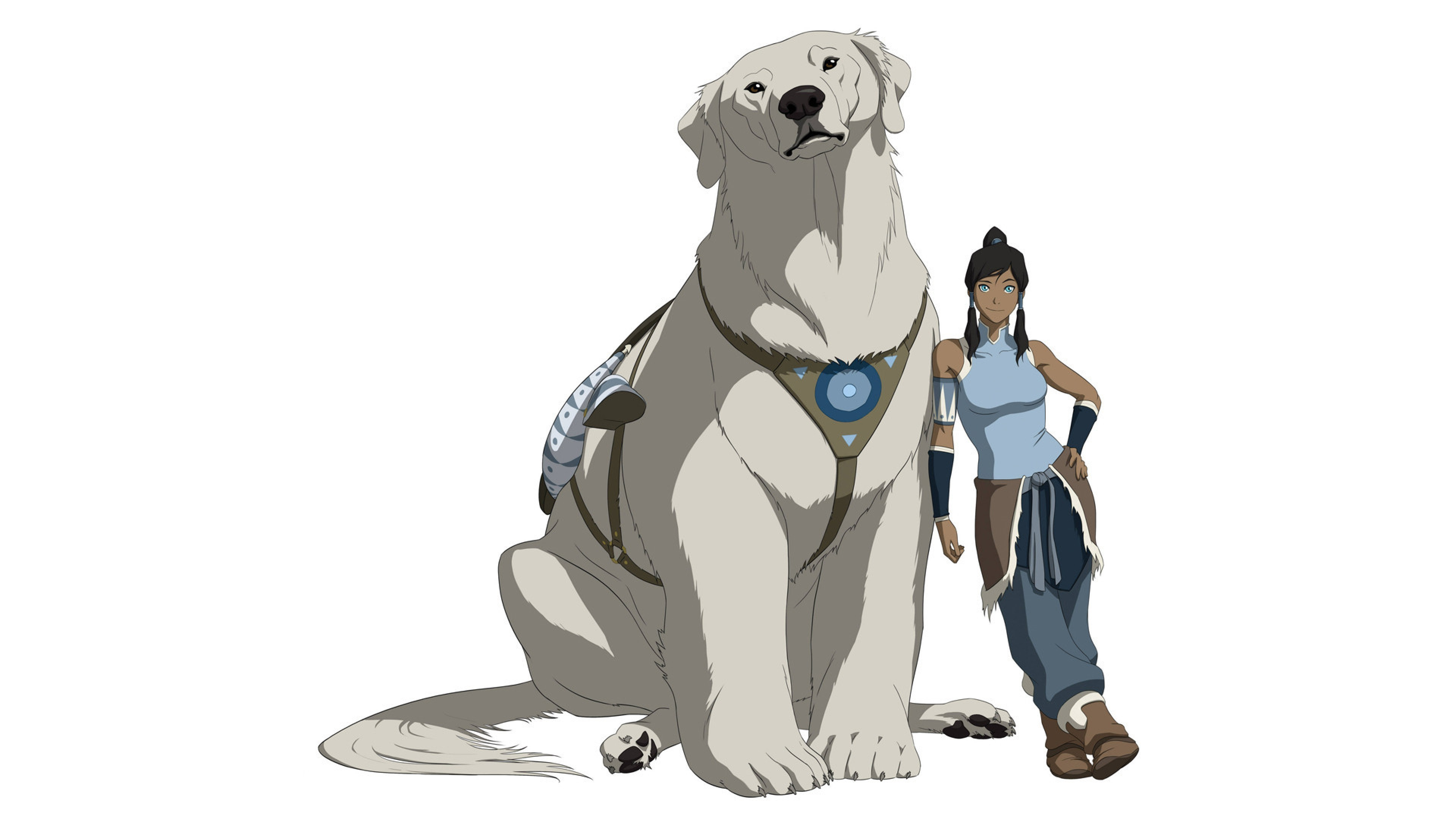3840x2160  Wallpaper avatar, the legend of korra, naga, korra