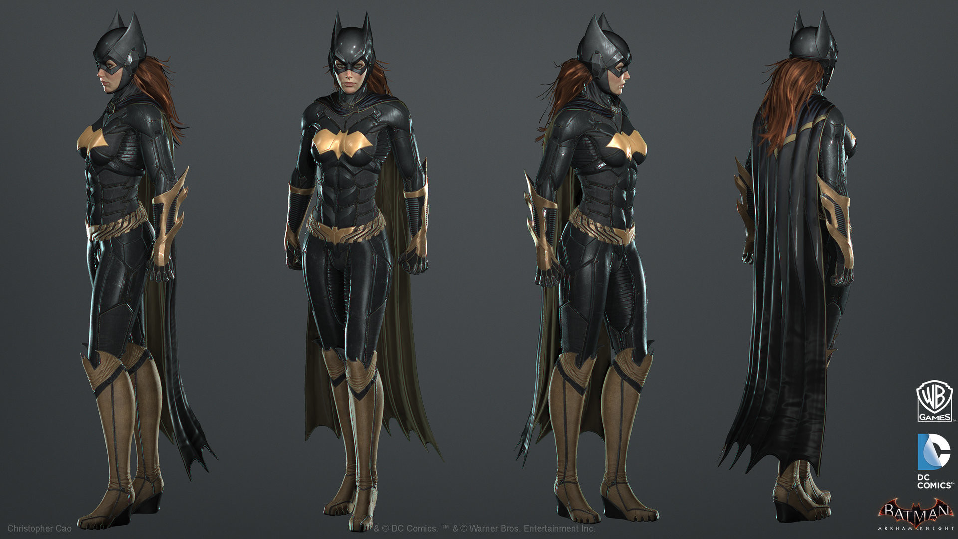 1920x1080 ArtStation - Batman: Arkham Knight DLC, Batgirl Game Model, Christopher Cao