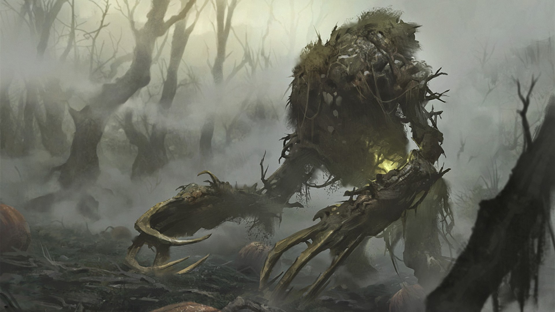 1920x1080 Fantasy Art Magic The Gathering Monsters Swamps ...