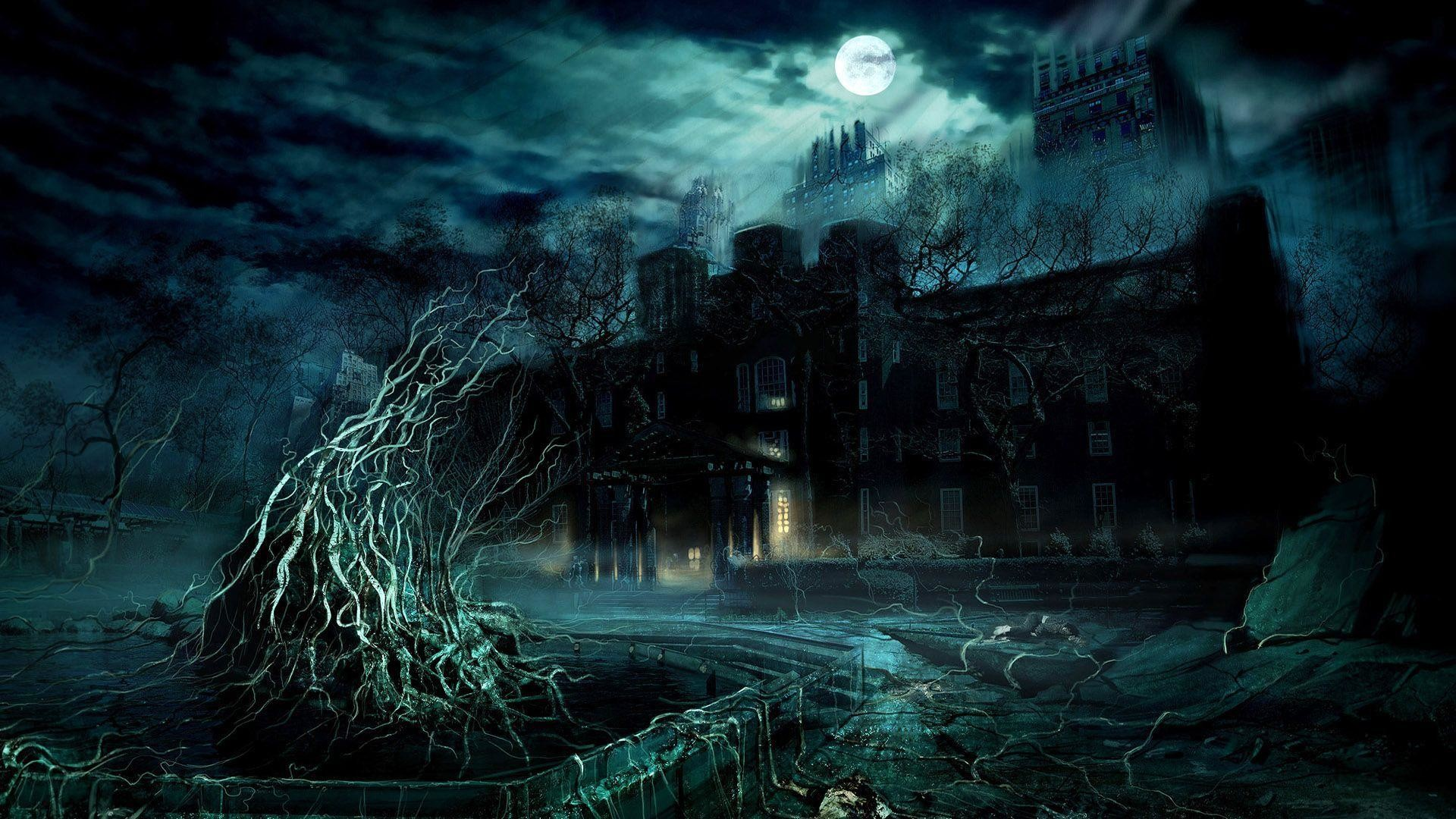 1920x1080 Download Scary Dark Castle Wallpaper | Free Wallpapers