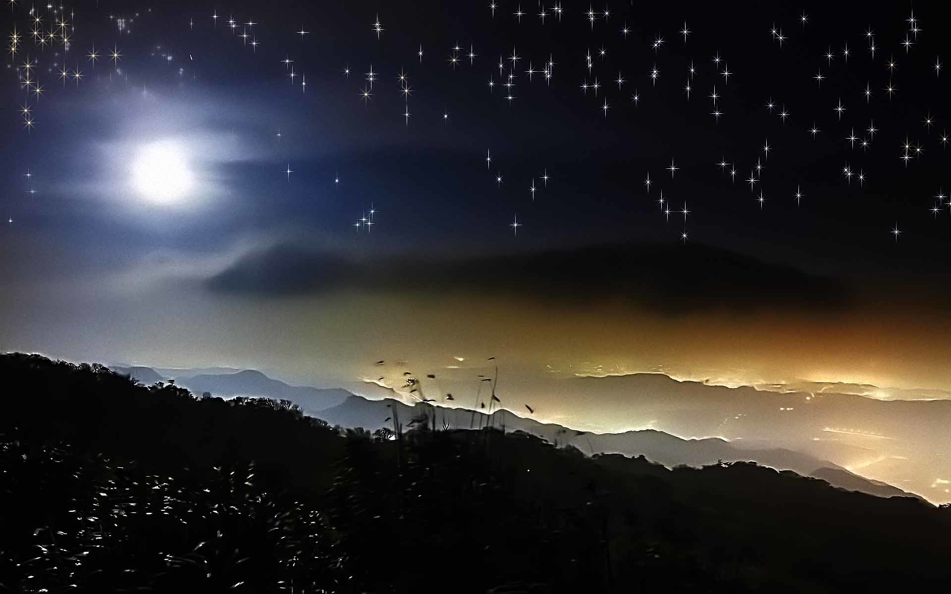 1920x1200 Gallery For Night Sky Moon Stars Wallpaper With Images Gt Beautiful