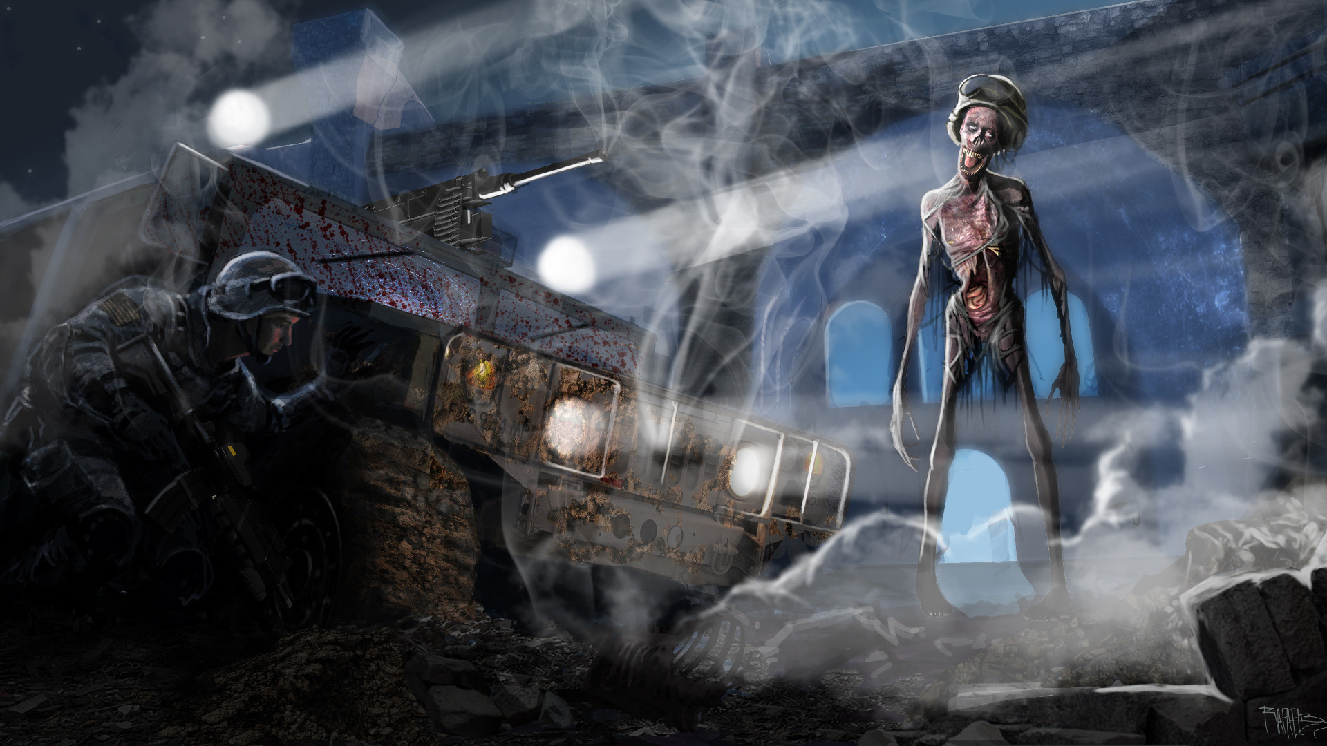 1920x1080 Zombie Cool Dark Backgrounds