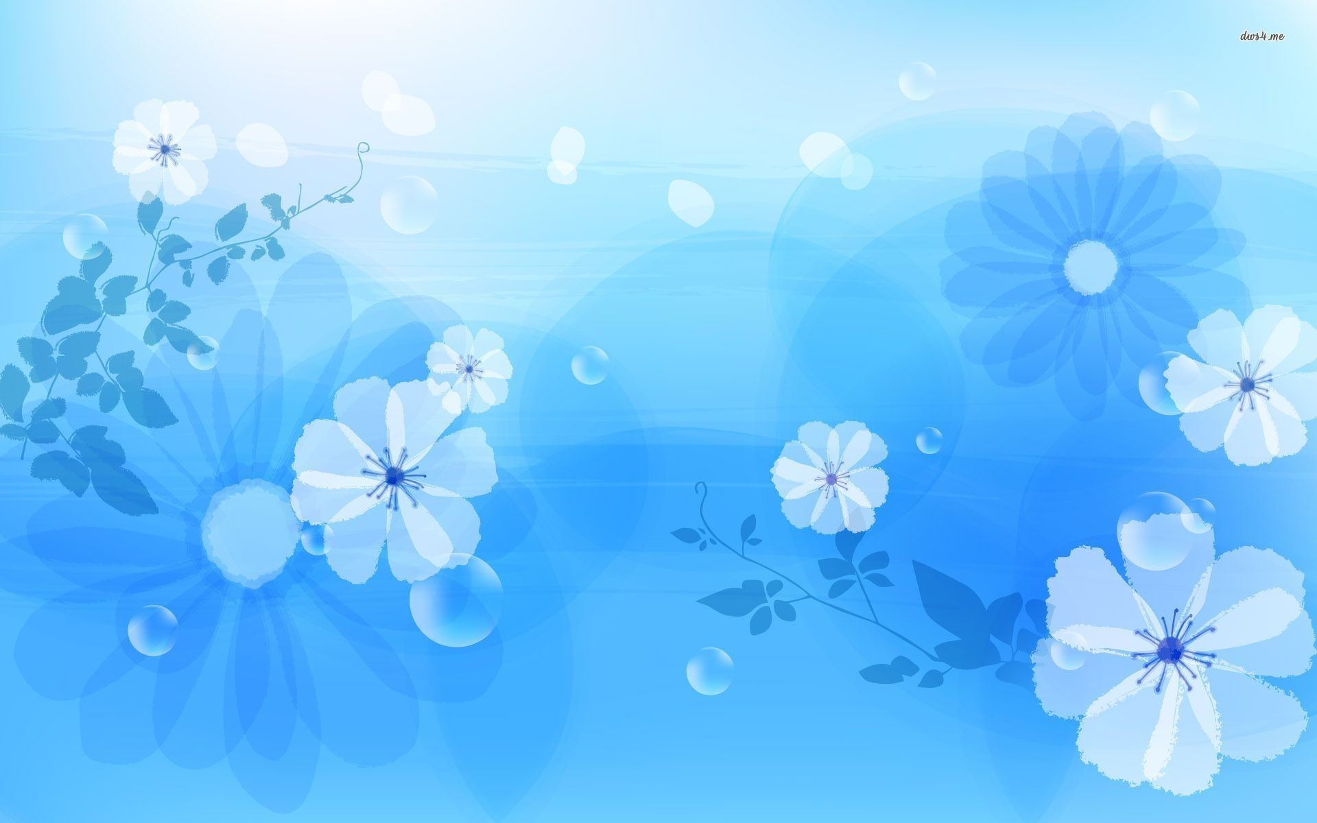 1920x1200 Blue Flower Wallpaper Picture
