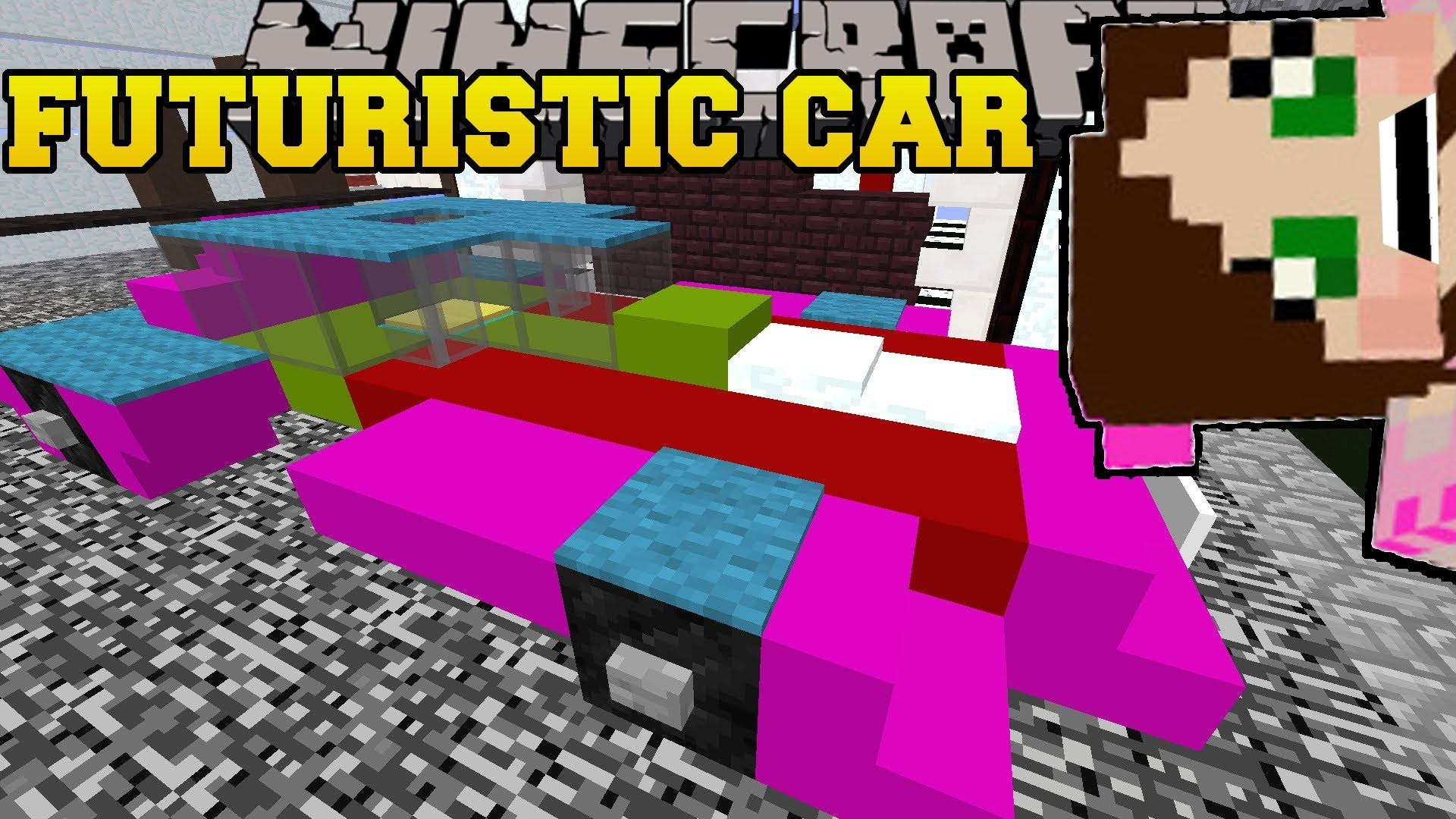 1920x1080 PAT And JEN PopularMMOs | Minecraft FUTURE CAR IN THE CITY! FIVE NIGHTS AT  FREDDY'S – Custom Map