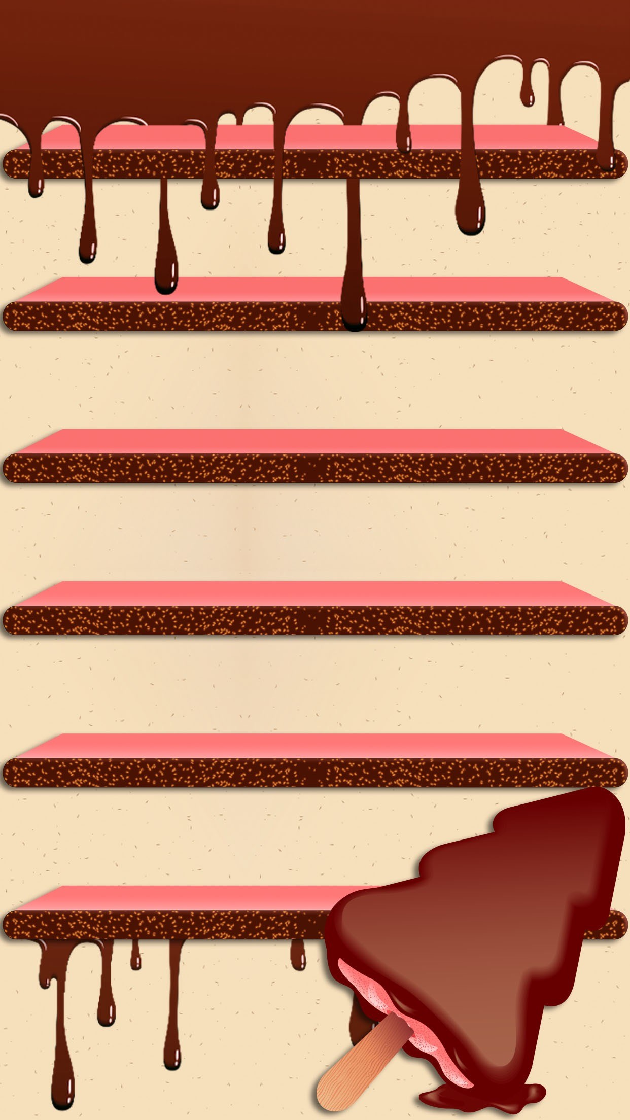 1242x2208 iPhone wallpaper. ↑↑TAP AND GET THE FREE APP! Shelves Chocolate Drops Beige  Brown Tasty Ice