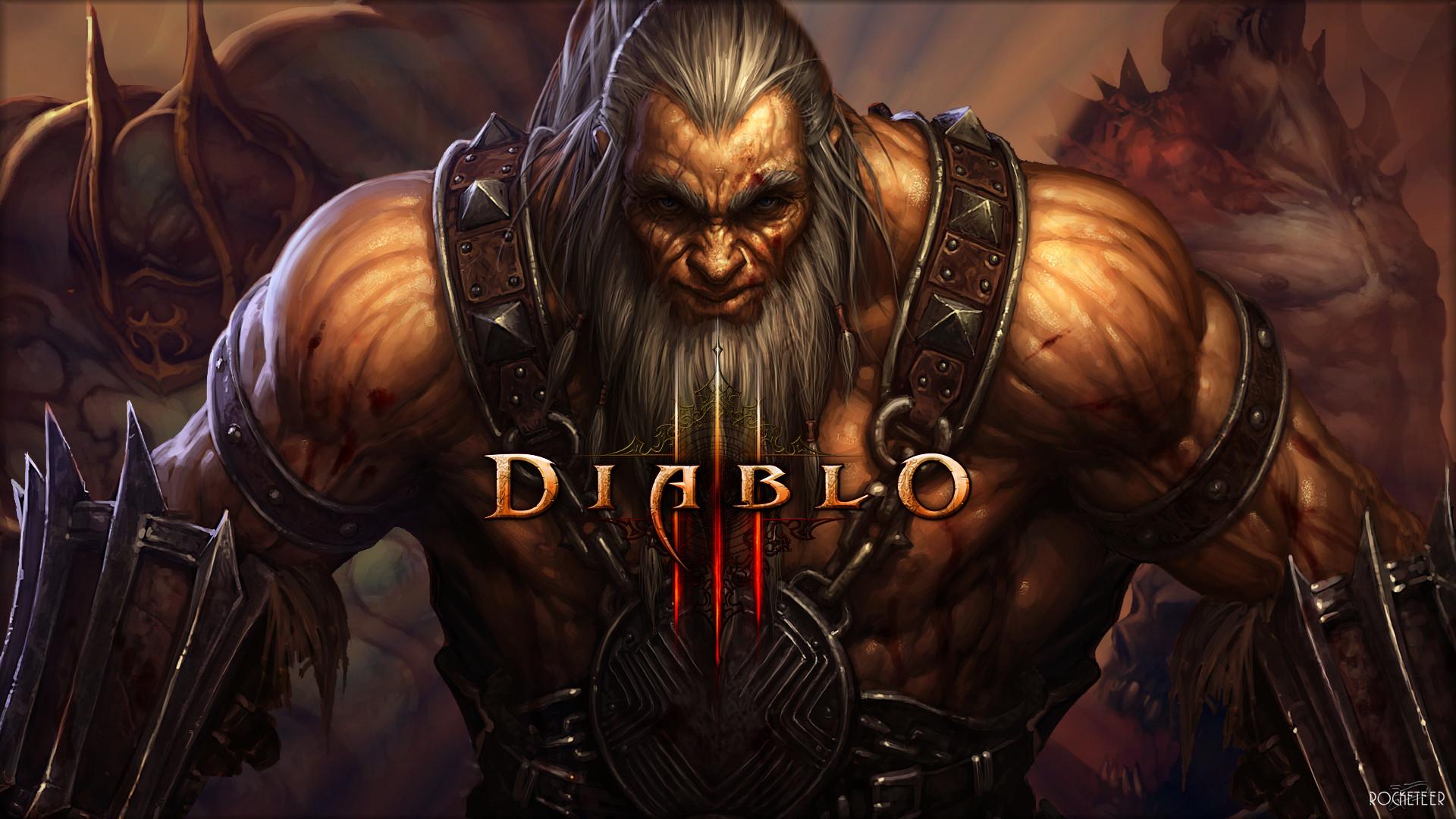 1920x1080 Diablo3 Male Barbarian wallpaper from Diablo 3 wallpapers