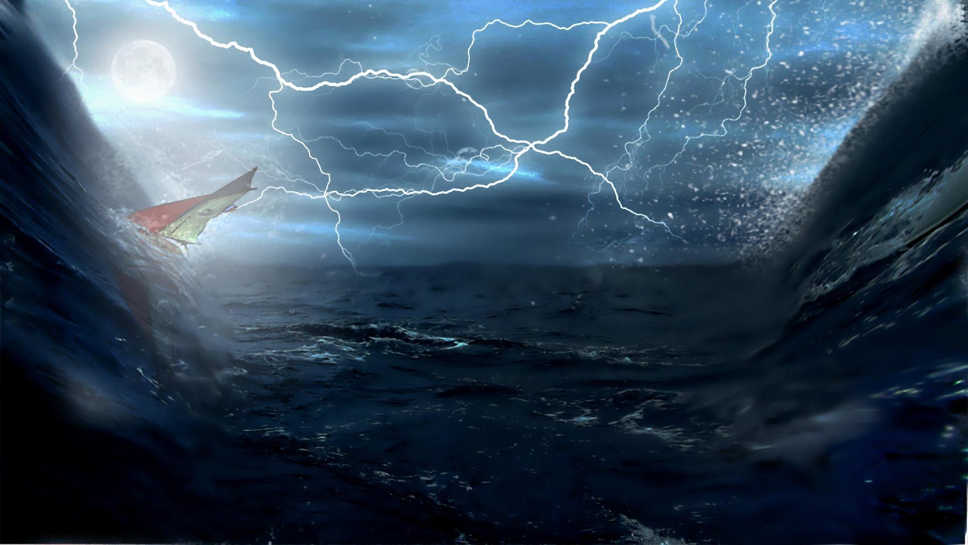 1920x1080 wallpaper.wiki-Lightning-Storm-Ship-Background-PIC-WPD003099