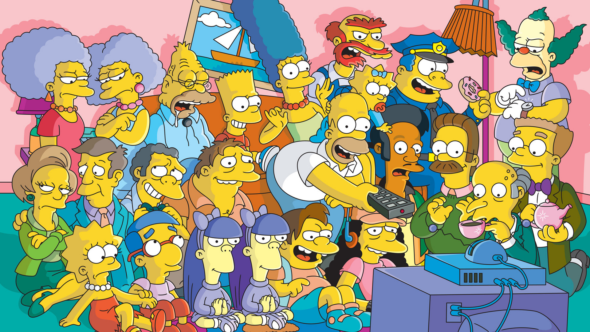 The simpson wallpaper 77 images for Simpsons wallpaper for bedroom