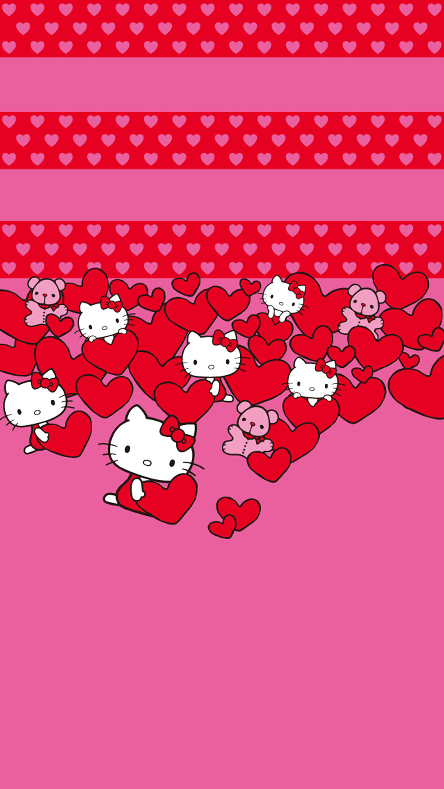 1440x2560 Hello Kitty Hearts LG G3 Wallpapers