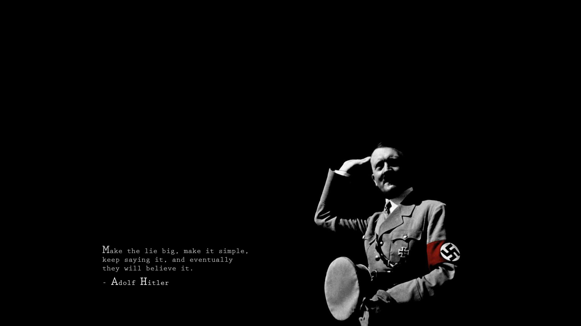 1920x1080 Misc - Quote Hitler Wallpaper