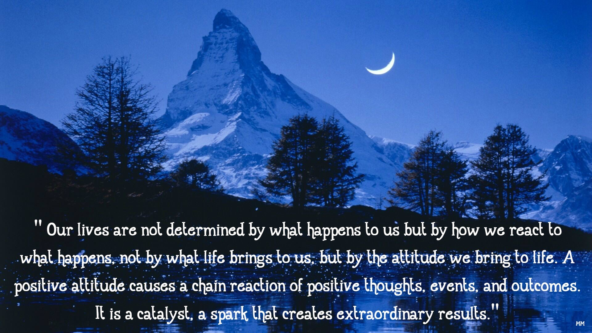 1920x1080 Quotes Lives Blue Nature Mountains Thoughts Words Night Sayings Dark  Mountain Everest Wallpaper