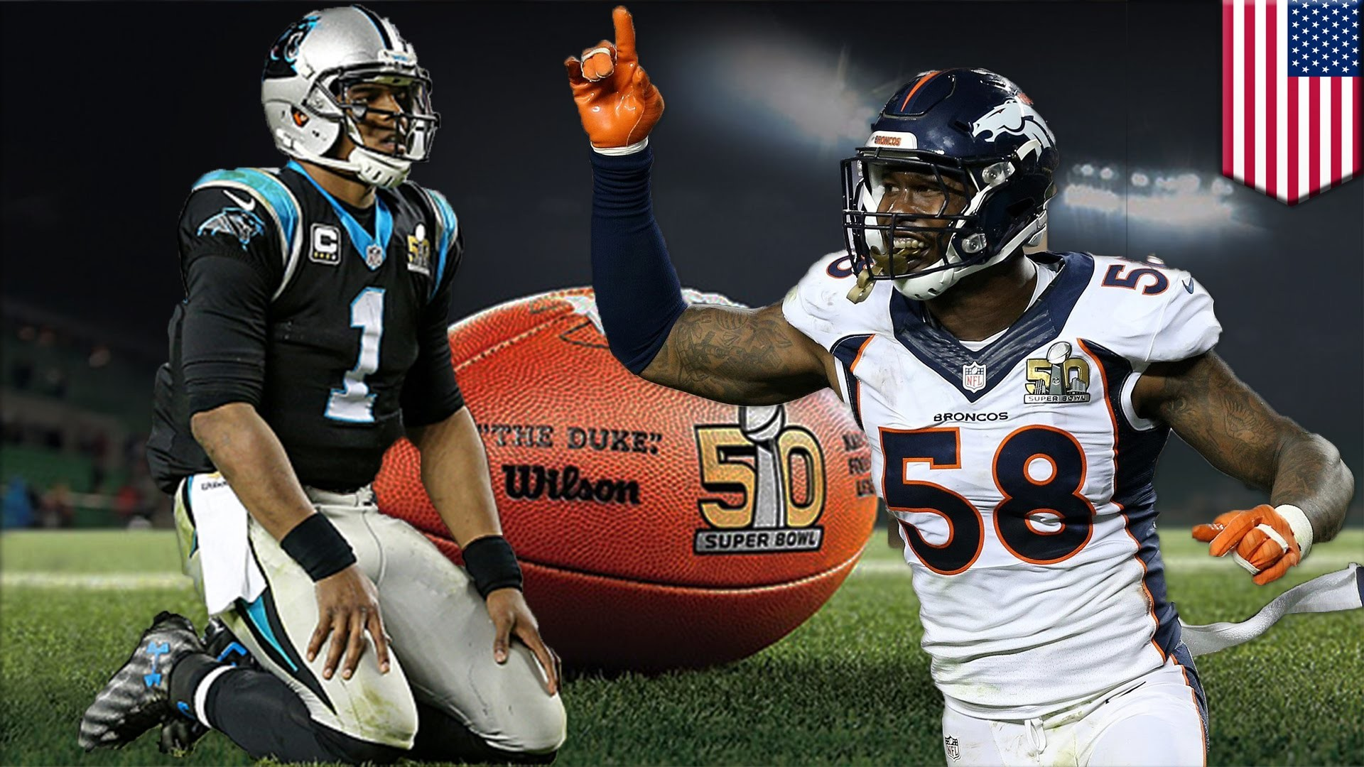 1920x1080 Broncos win Super Bowl 50: Denver D annihilates Cam and Panthers for 24-10  win - YouTube