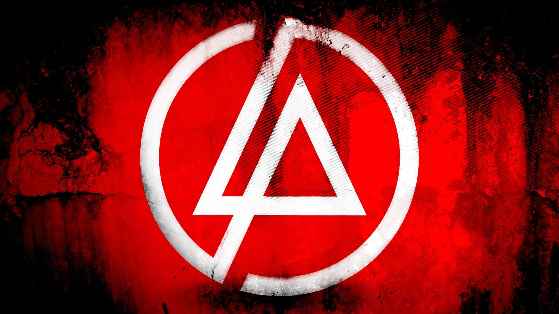 1920x1080 Preview wallpaper linkin park, symbol, background, triangle, circle