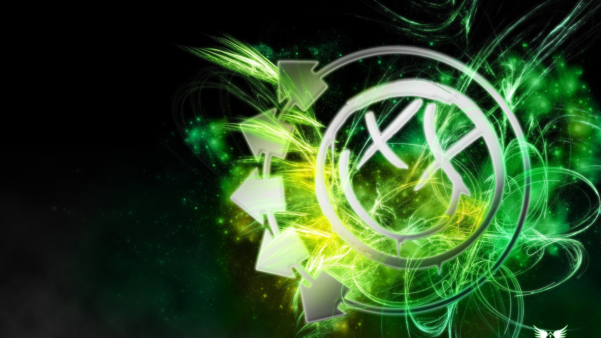 1920x1080 Preview wallpaper blink-182, logo, smile, arrows, smiley