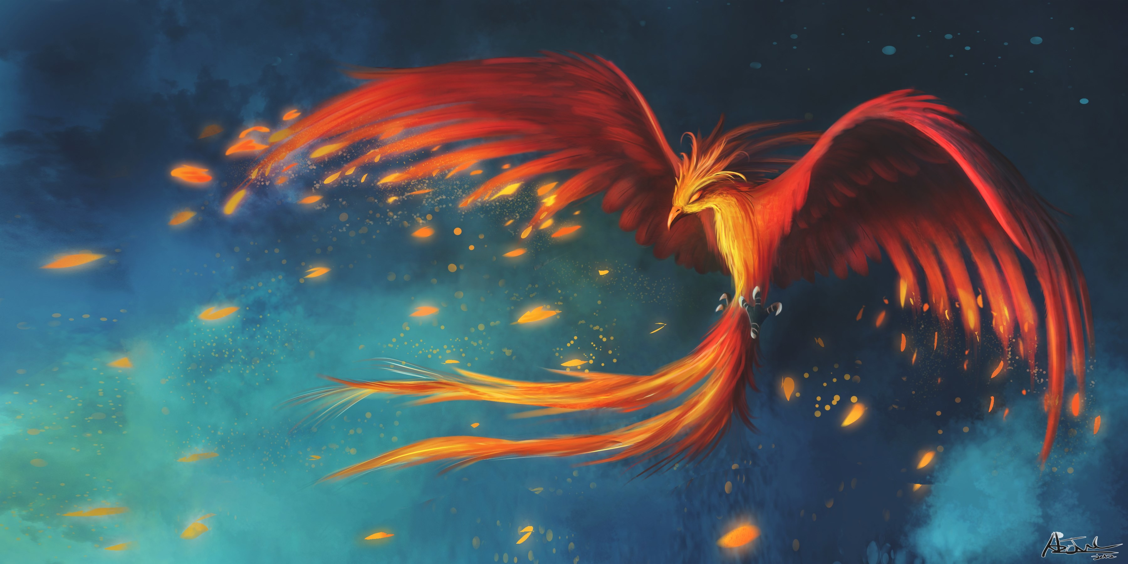 3600x1800  px Backgrounds In High Quality - phoenix backround by Delmon Cook  for : pocketfullofgrace.