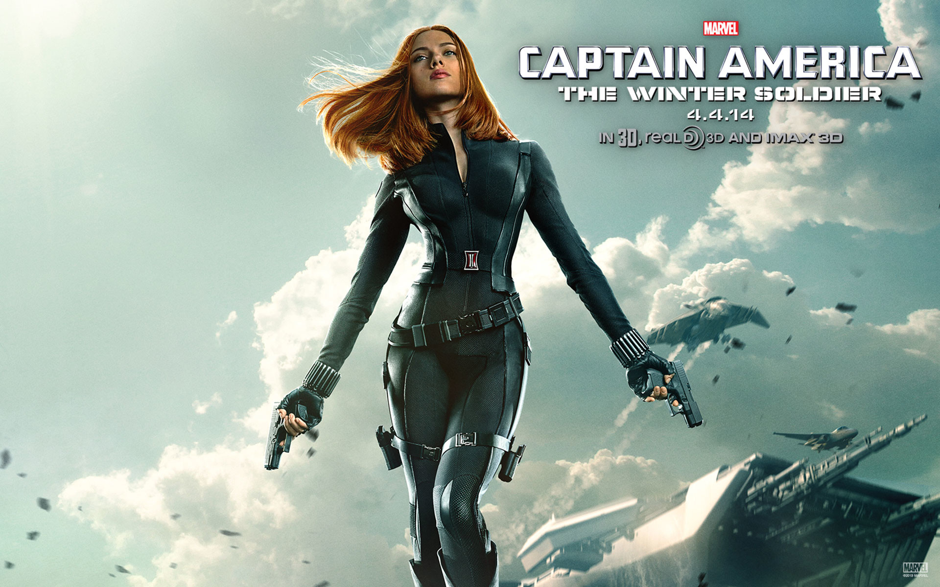 1920x1200 Captain America The Winter Soldier Black Widow Wallpapers