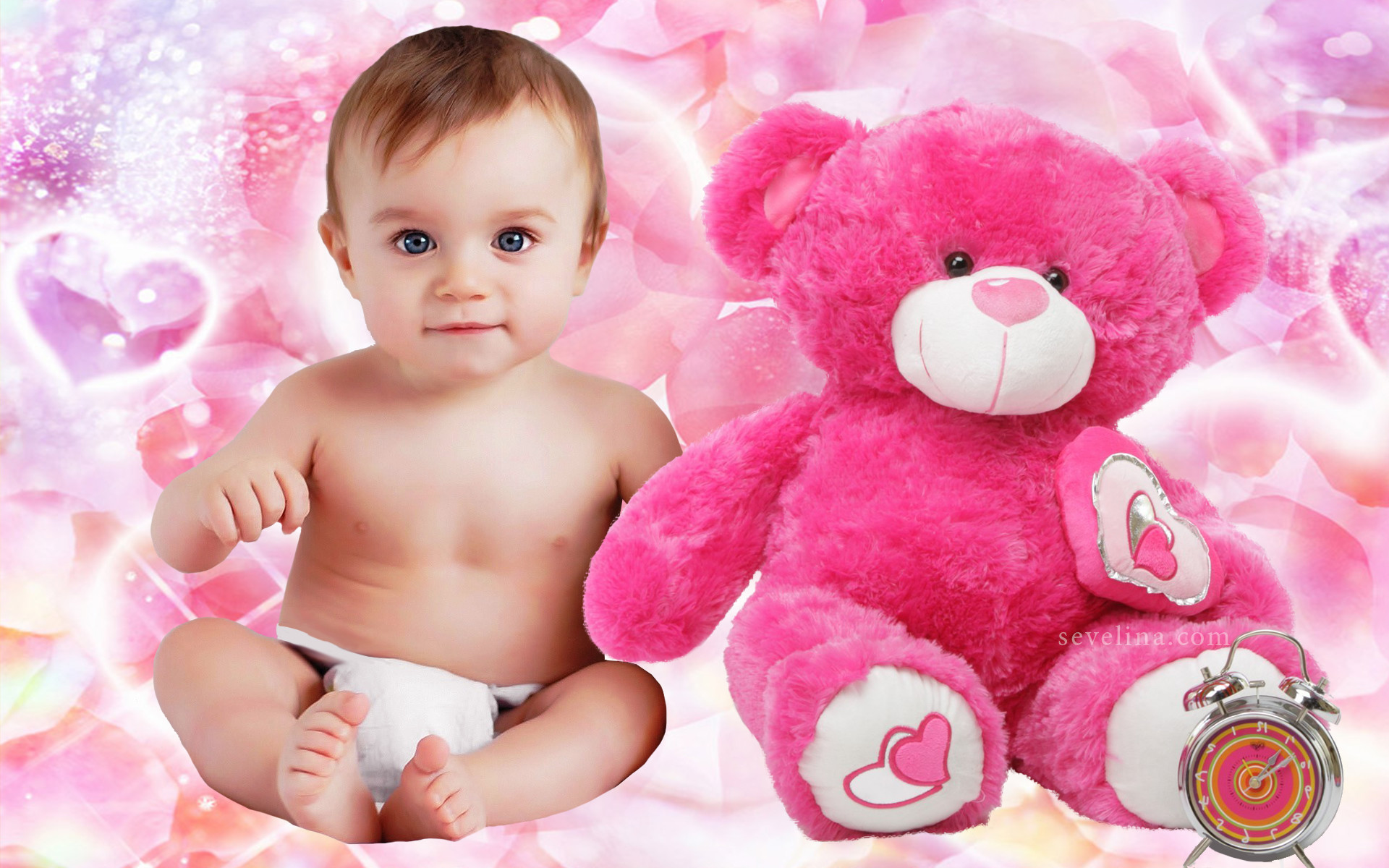 1920x1200 Baby-and-teddy-love-you-valentine-day wallpapers 2014 ...