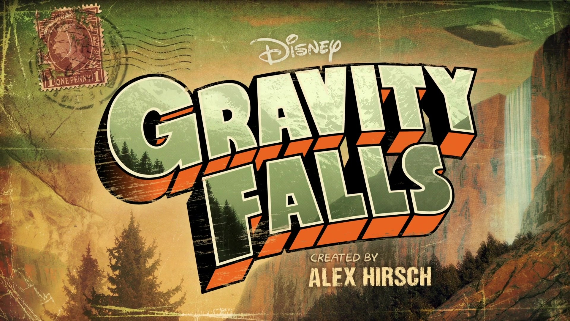 1920x1080 <b>Gravity Falls</b> Title Background by arberlezi on DeviantArt