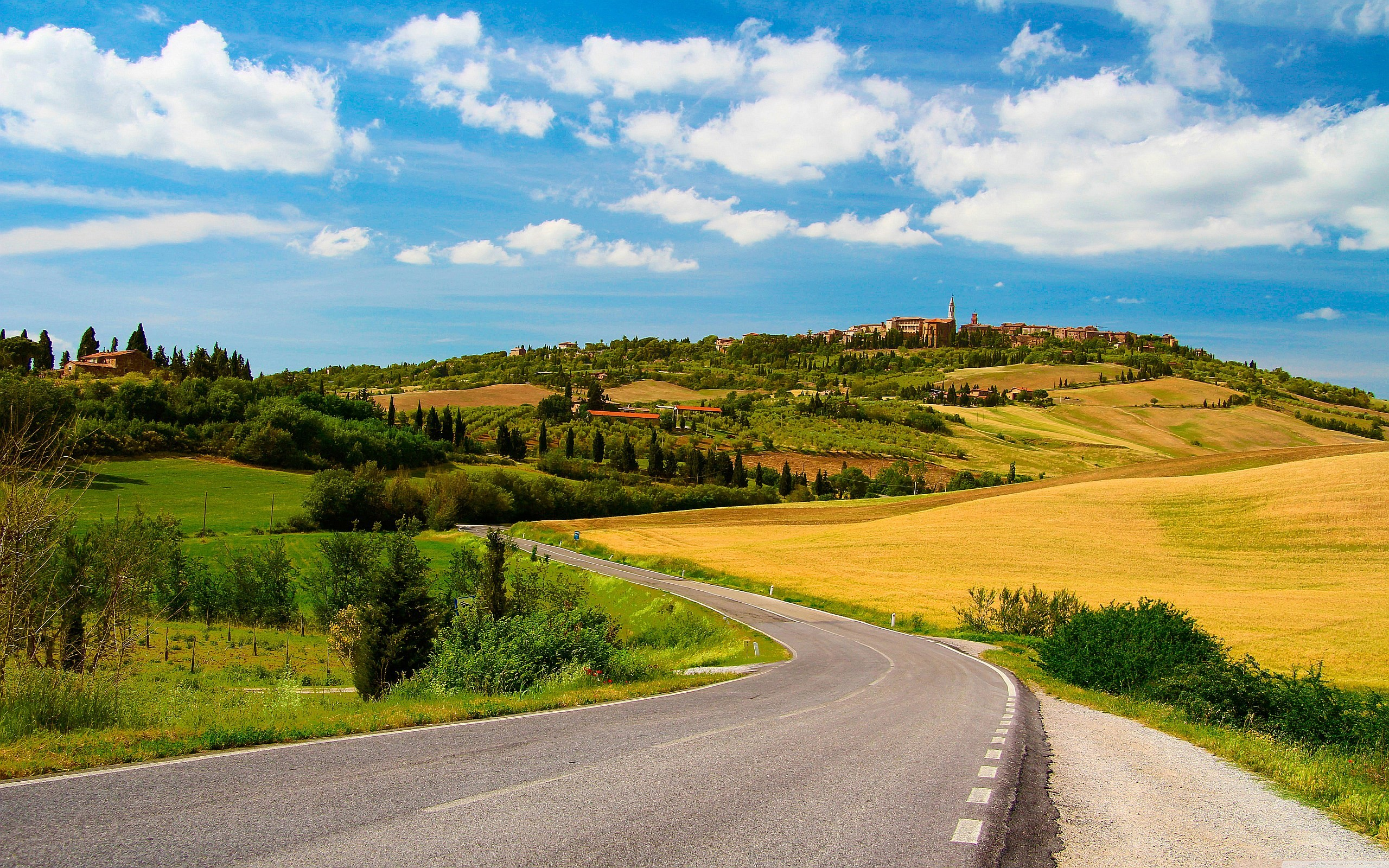 2560x1600 Country Road In Tuscany wallpaper free