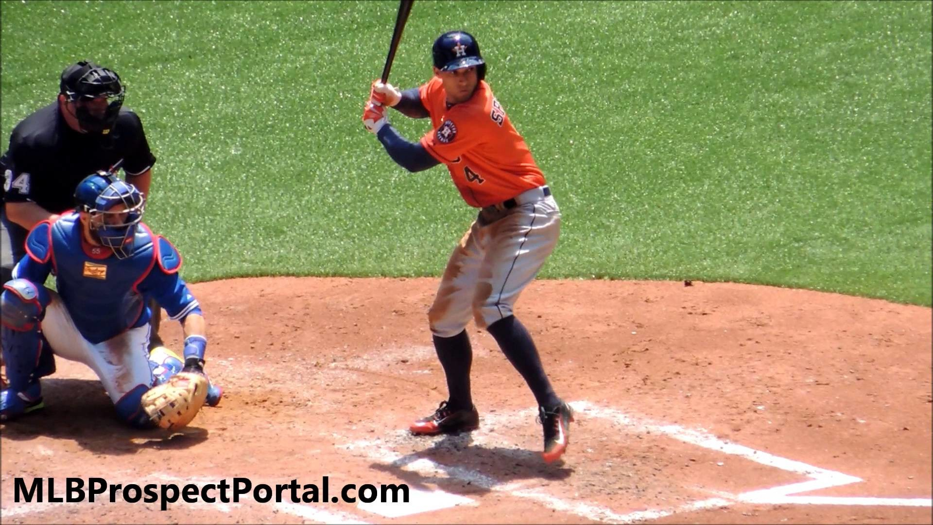 1920x1080 George Springer base hit - Houston Astros OF