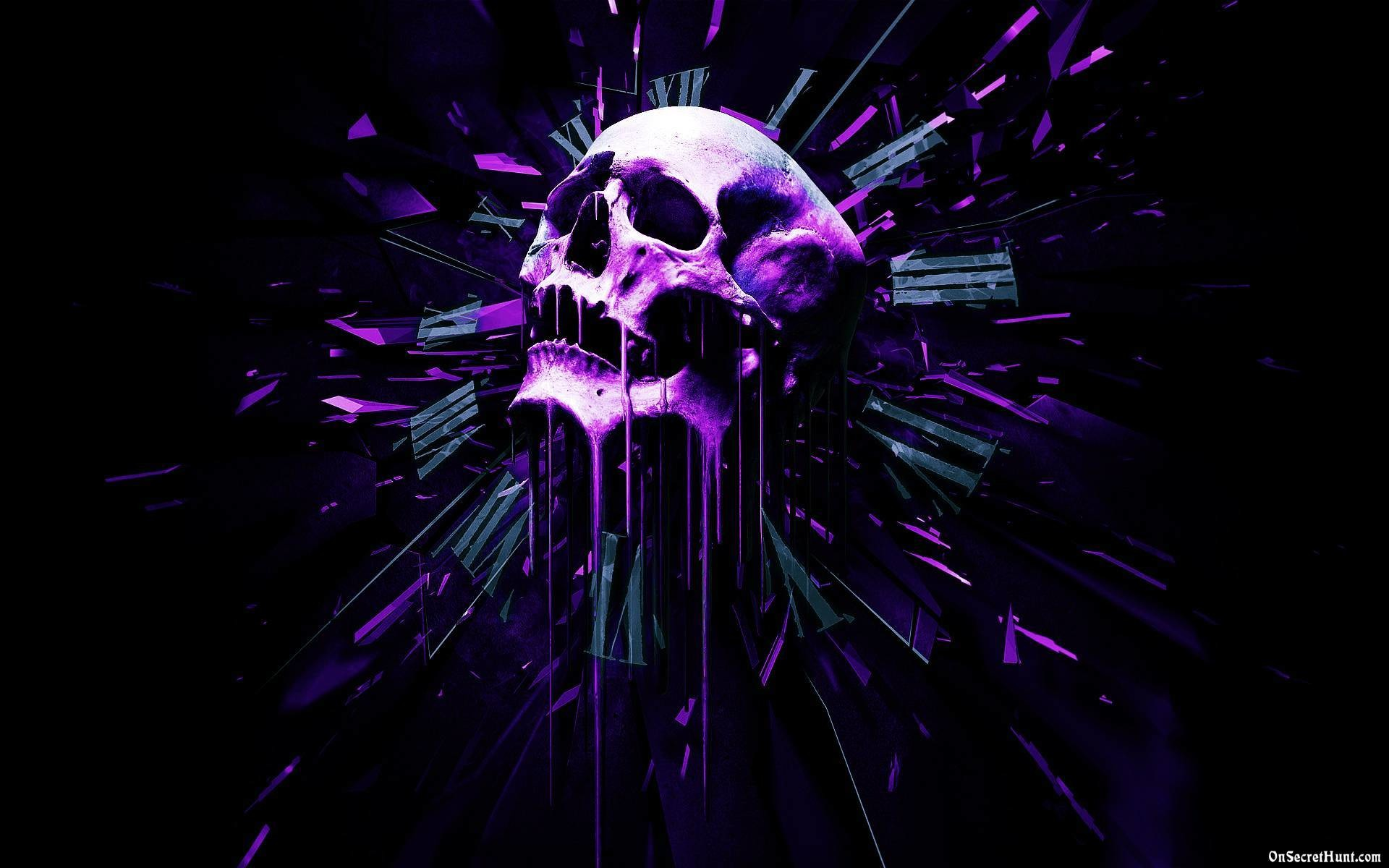 1920x1200 Black And Purple Skull Wallpapers