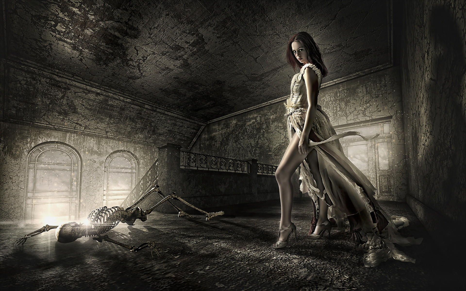 1920x1200 Dead Death Decay Lost Soul Skeleton Dark Fantasy Gothic Girl Wallpaper At Dark  Wallpapers