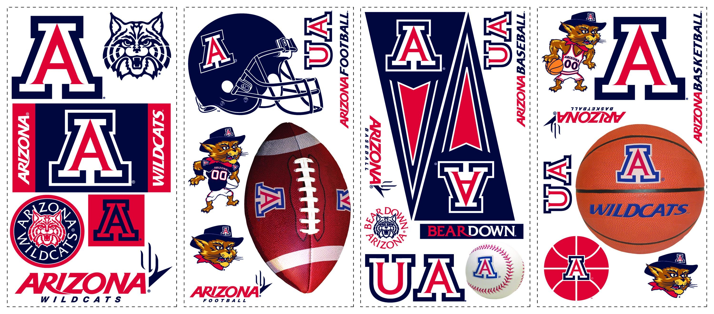 3000x1322 York Wallpaper Arizona Wildcats Wall Decals Search Results