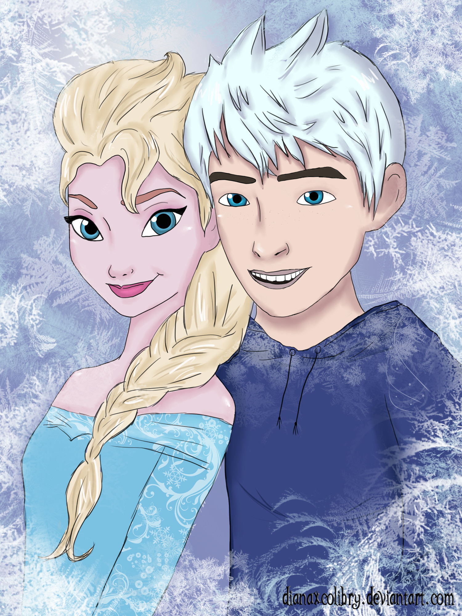 Res: 1500x2000, Elsa and Jack Frost by DianAxColibrY Elsa and Jack Frost by DianAxColibrY