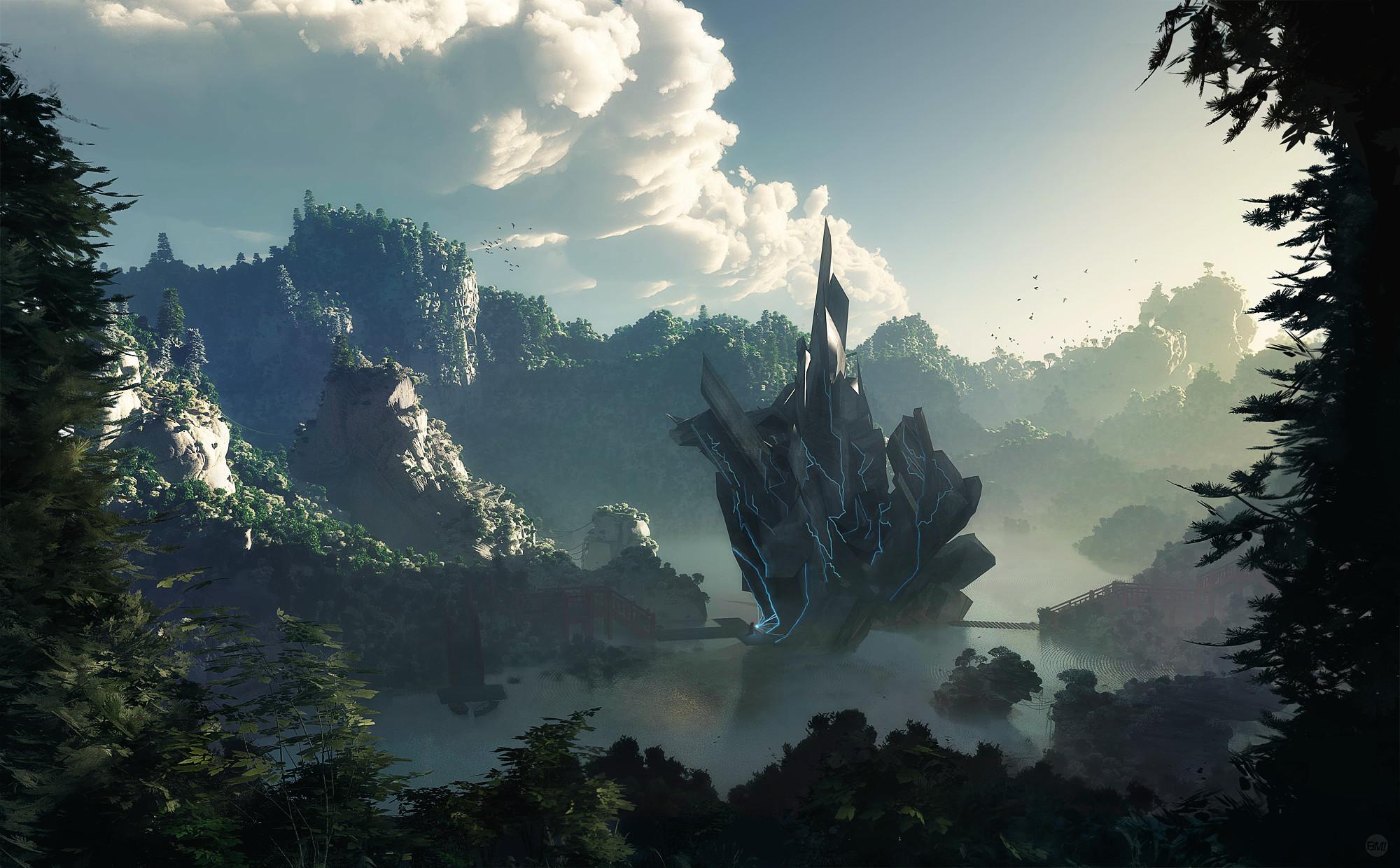 2560x1600 Sci Fi Landscapes Alien Planetscape Wallpaper