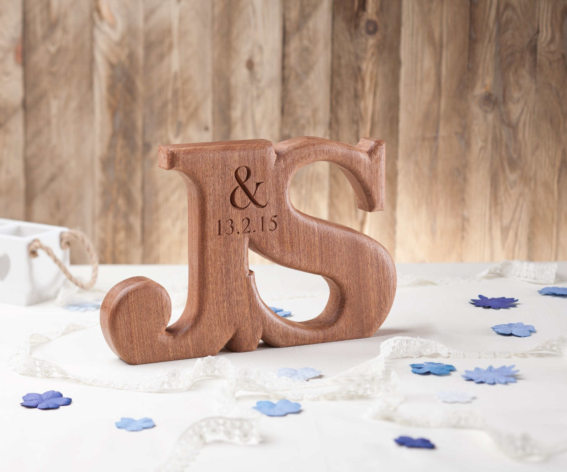 1920x1597 Large Oak Linked Wedding Letters