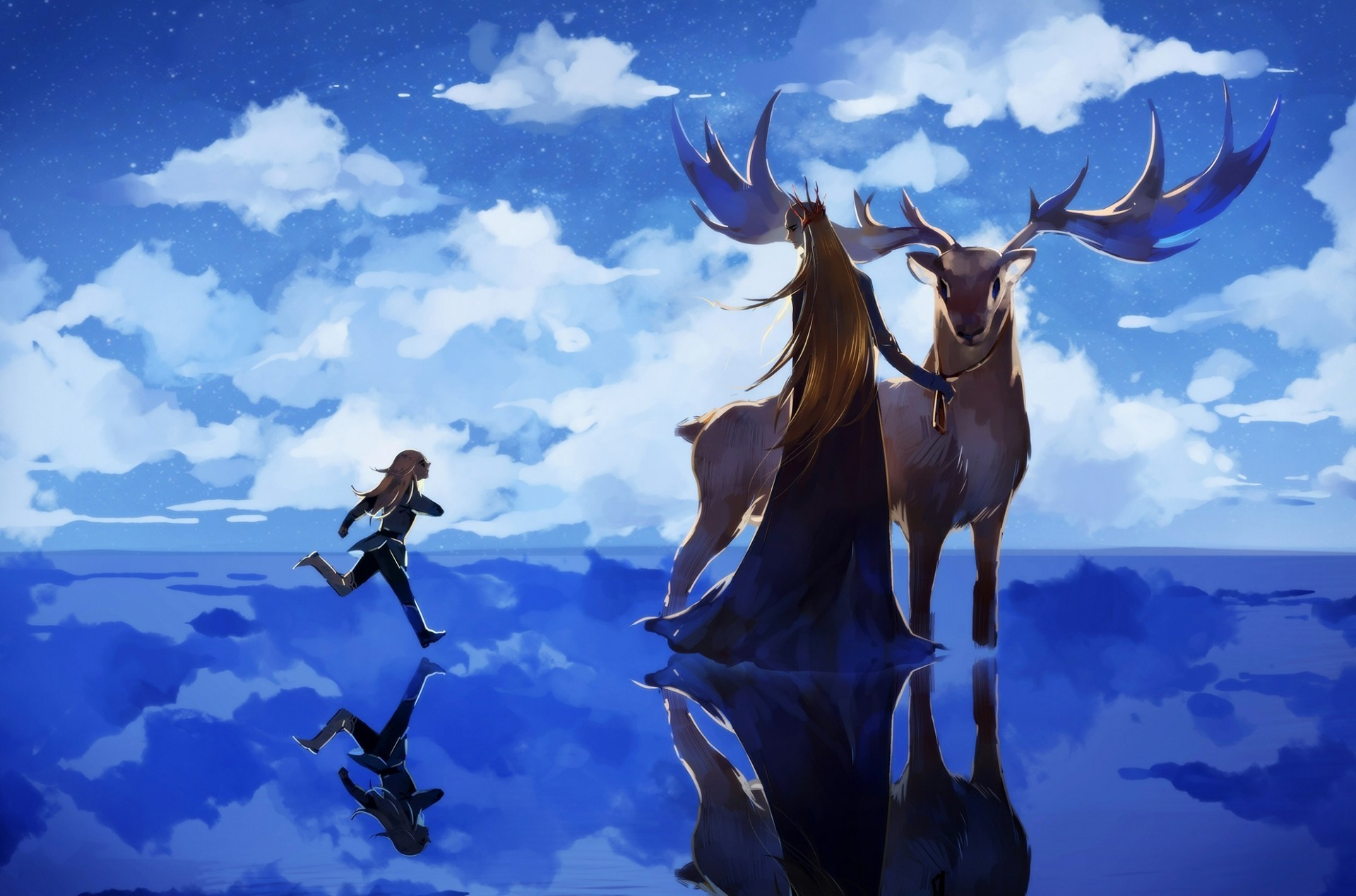 1920x1270 The Lord Of The Rings, Anime Style, Elf, Thranduil, Deer, Legolas