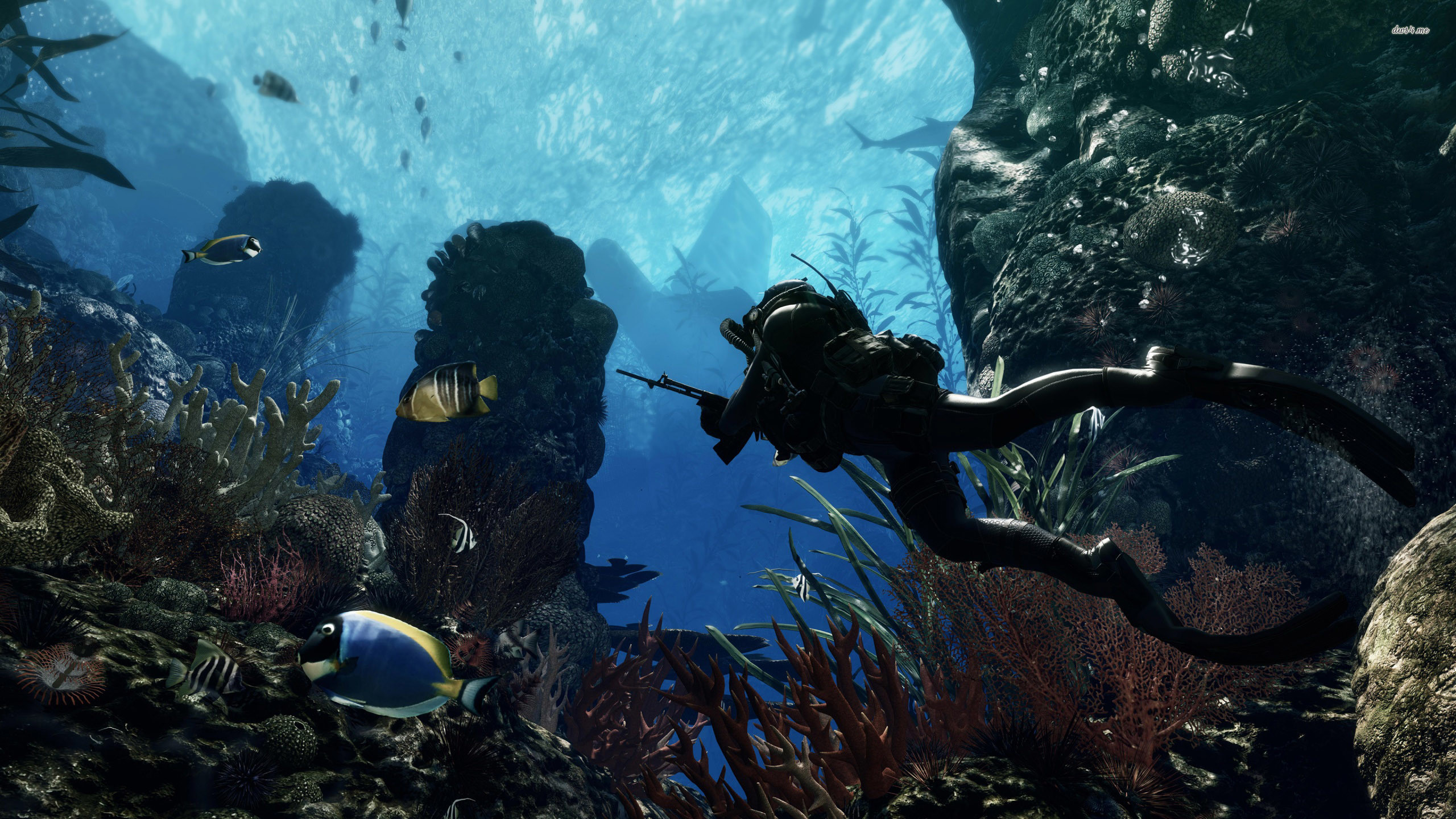 2560x1440 ... Call Of Duty: Ghosts Maps scuba diver wallpaper  ...