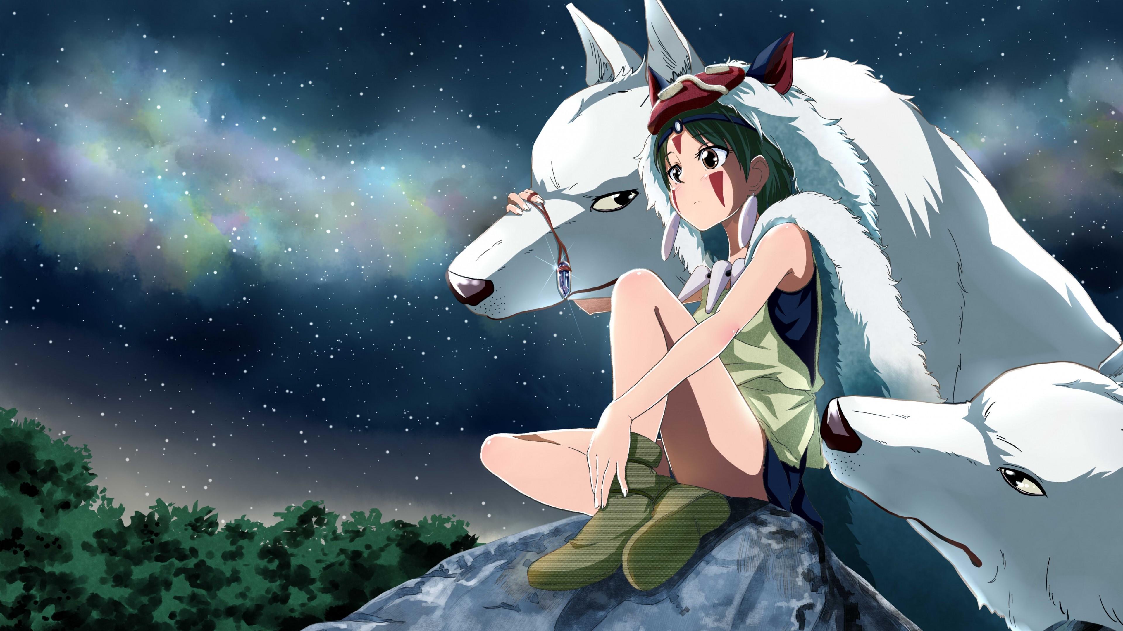 X Preview Wallpaper Princess Mononoke Hayao Miyazaki Wolf X