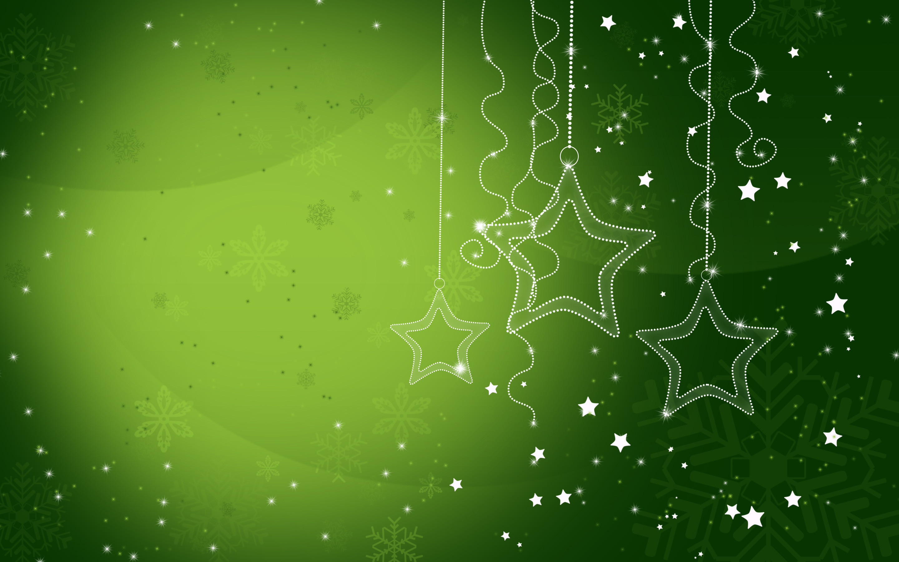 2880x1800 Green Christmas Wallpaper.