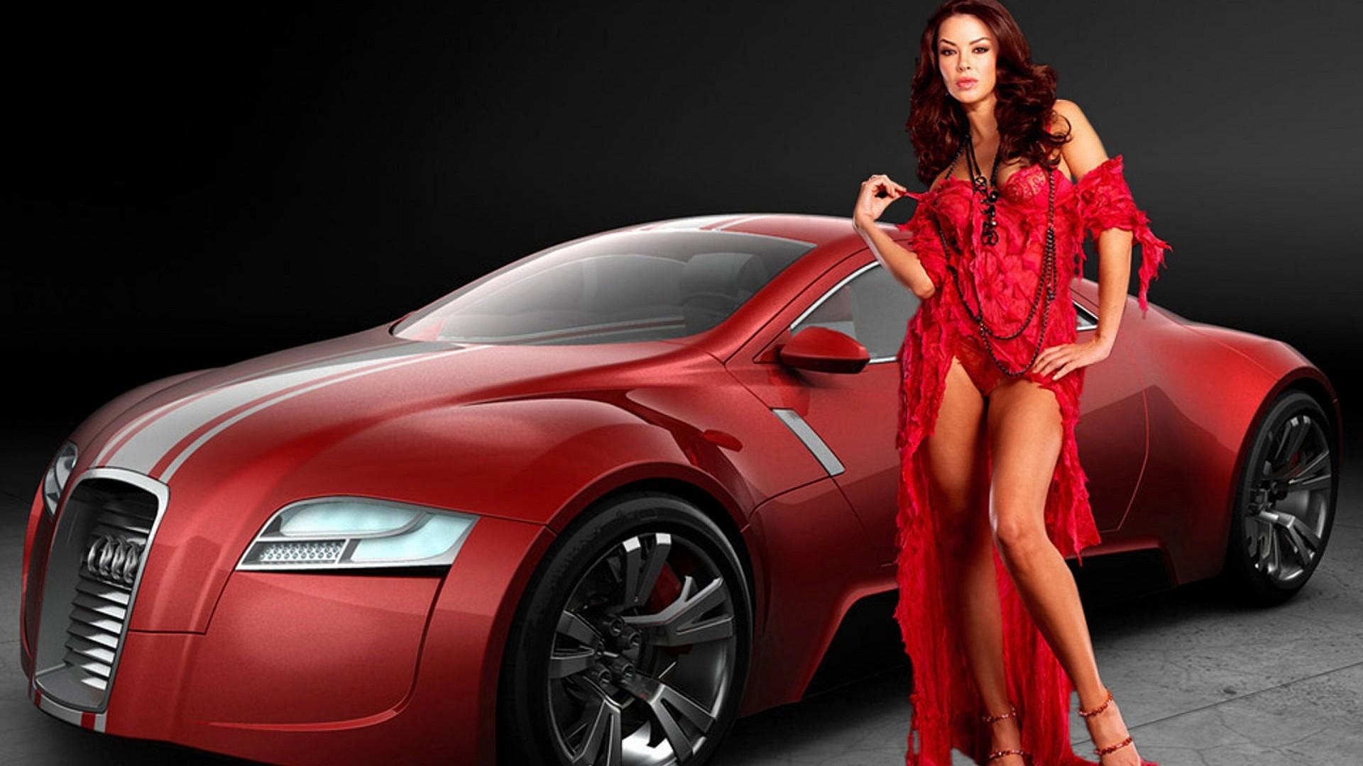 Car Show Girl Wallpaper