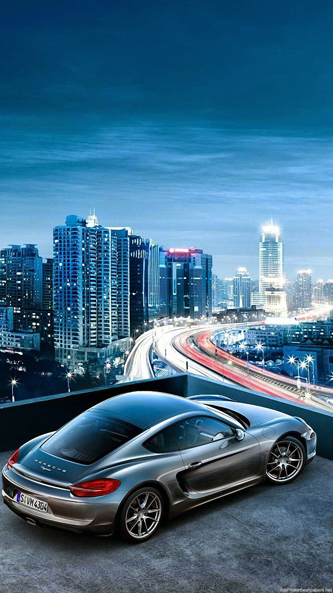 1080x1920 HD Porsche Car Sky City View Iphone 6 Wallpaper
