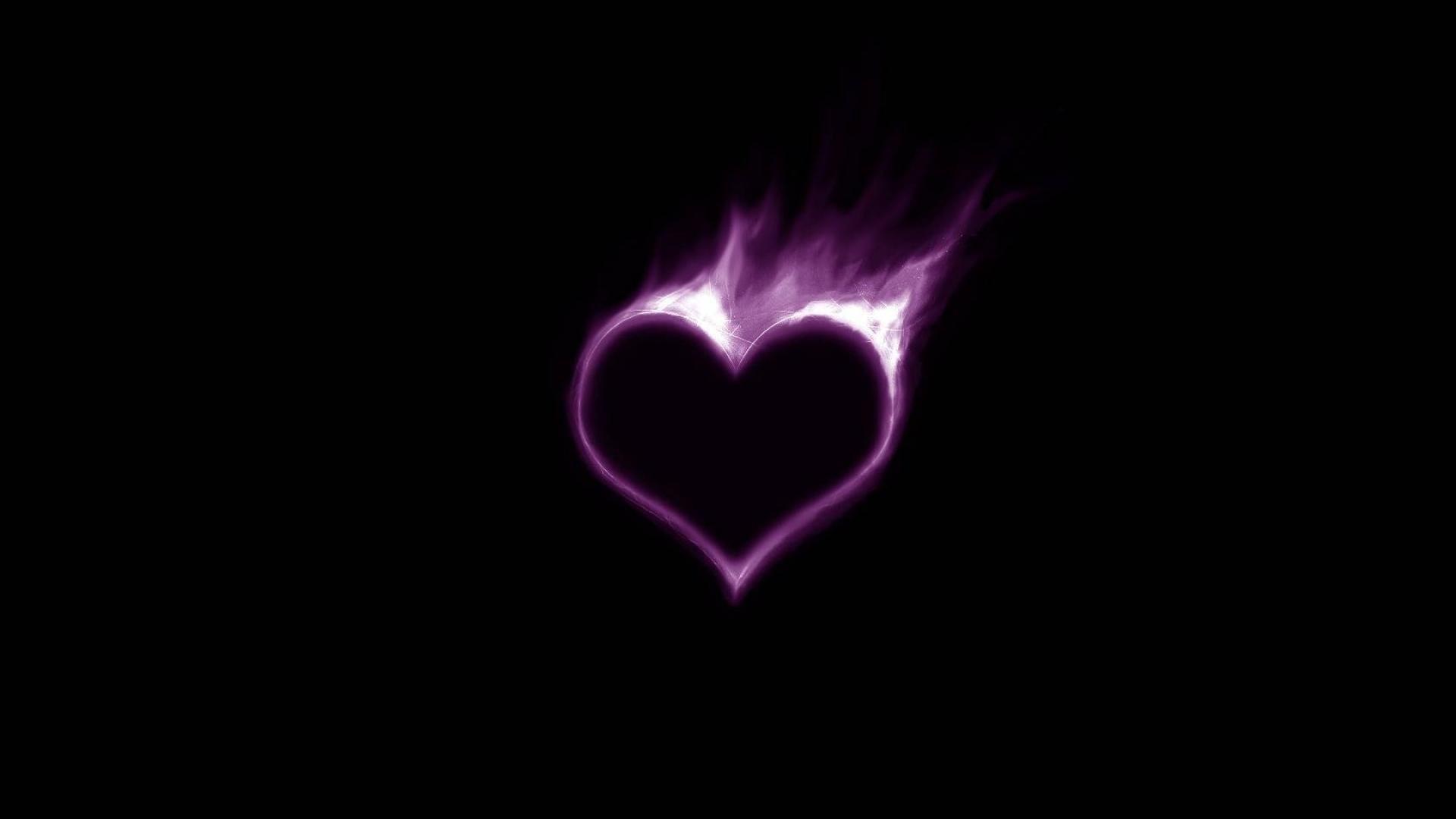 Purple And Black Hearts Wallpaper: Purple Heart Wallpaper (79+ Images