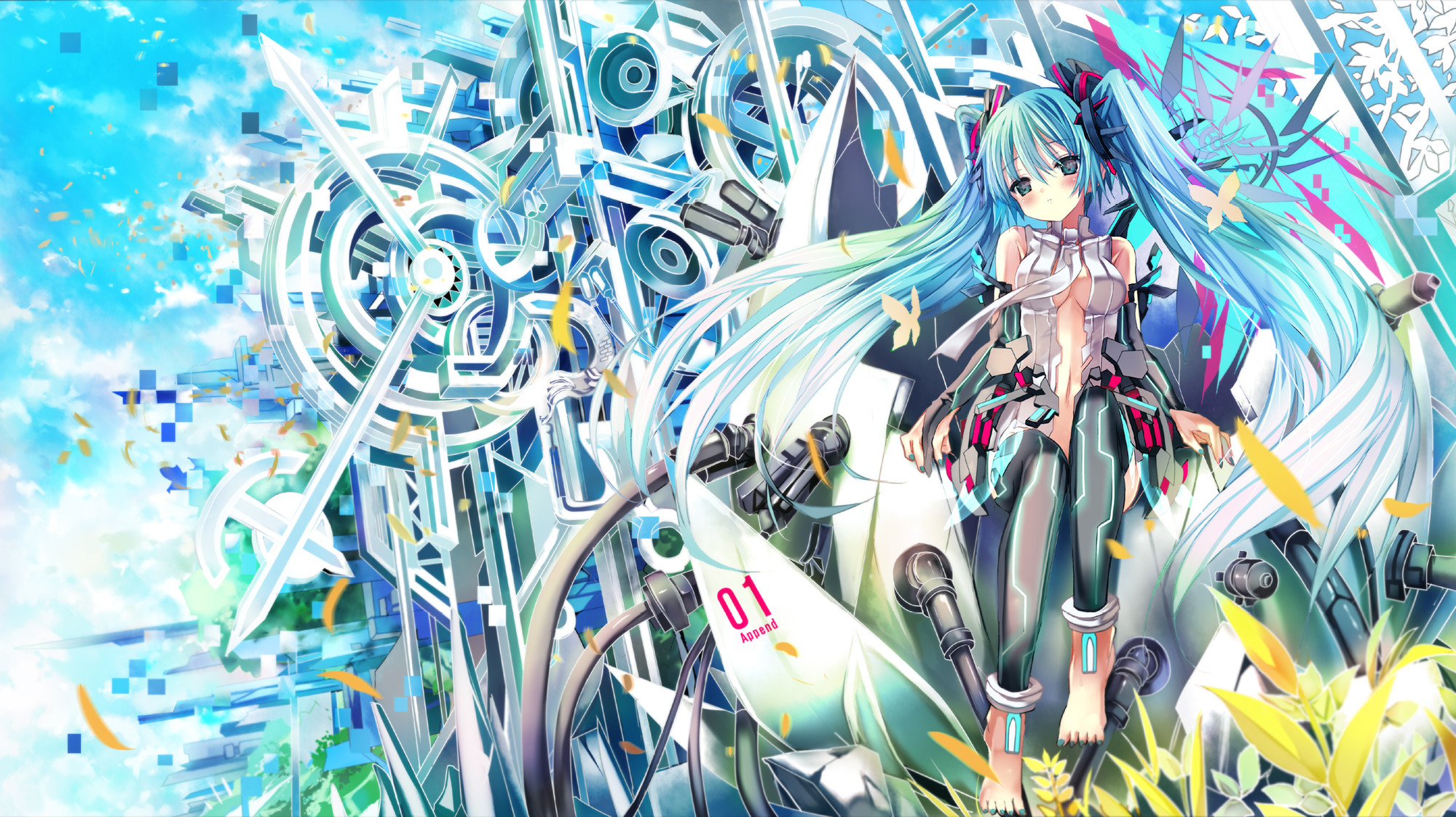 2000x1122 Vocaloid Wallpaper Free HD Wallpapers Backgrounds Download